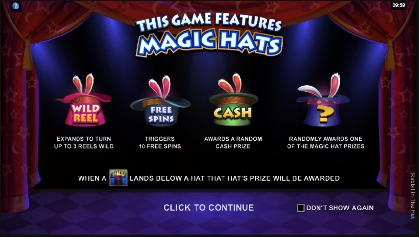 Play Rabbit In The Hat Free Casino Slot Game by Microgaming