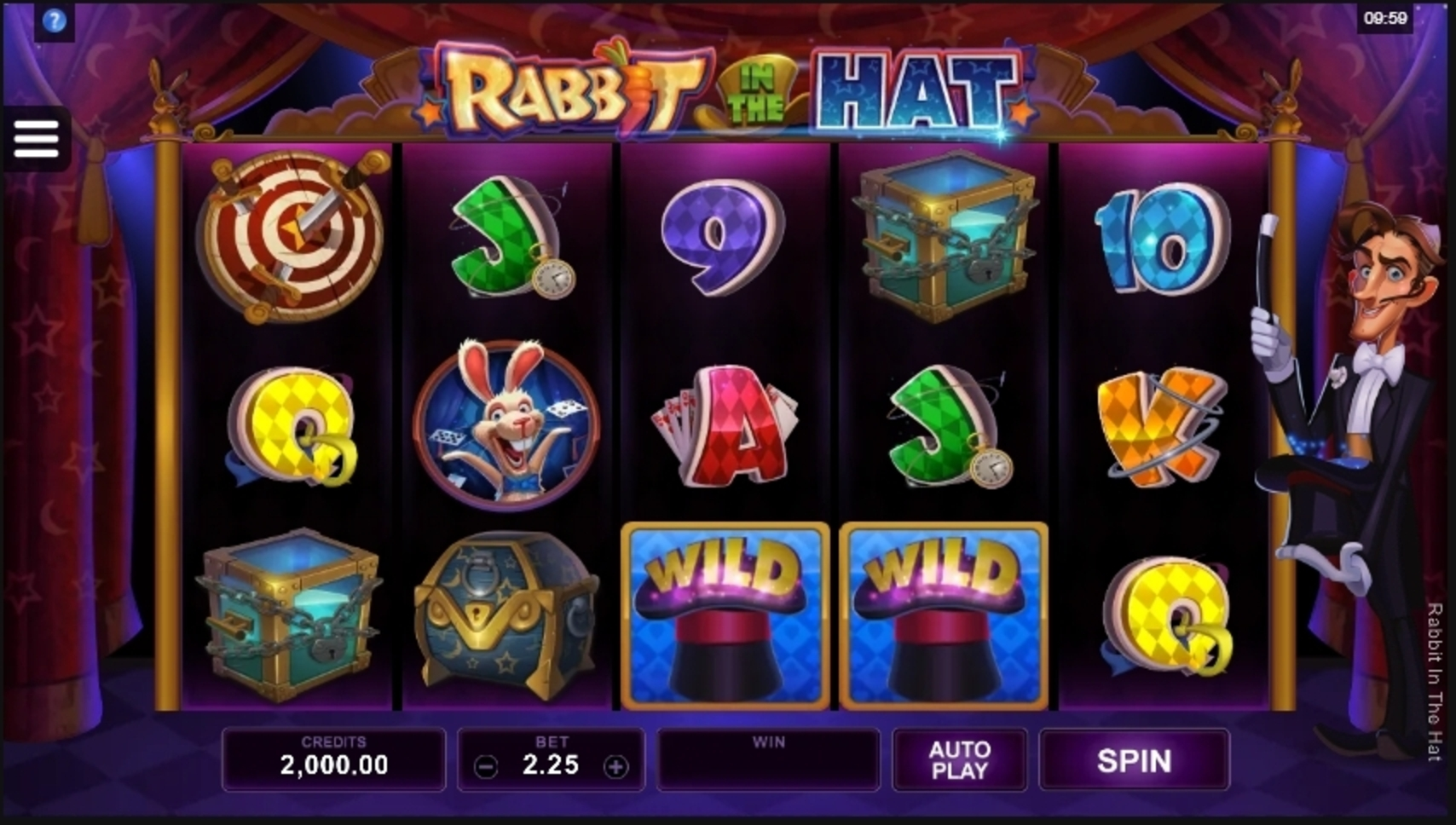Reels in Rabbit In The Hat Slot Game by Microgaming
