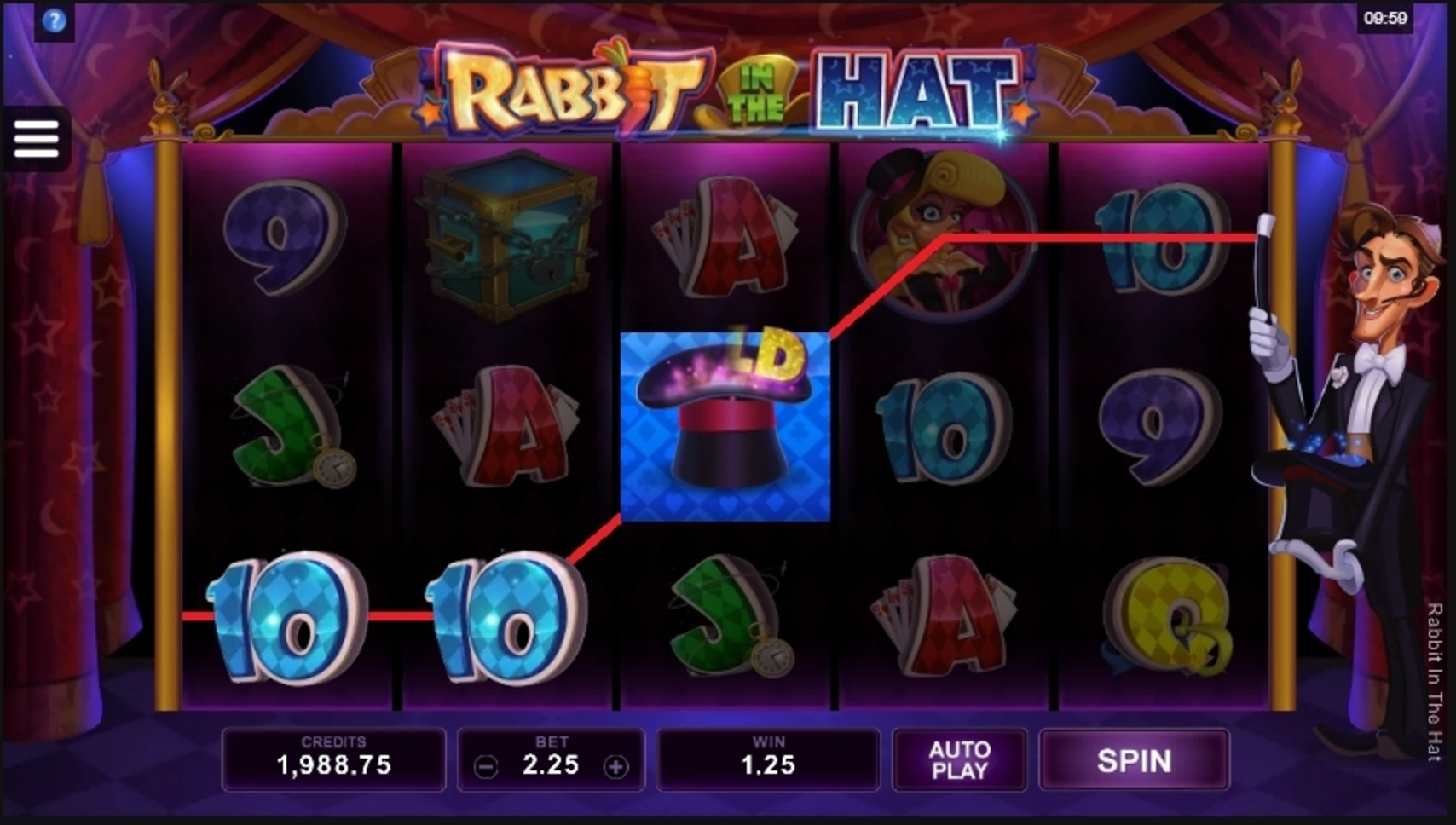 Win Money in Rabbit In The Hat Free Slot Game by Microgaming