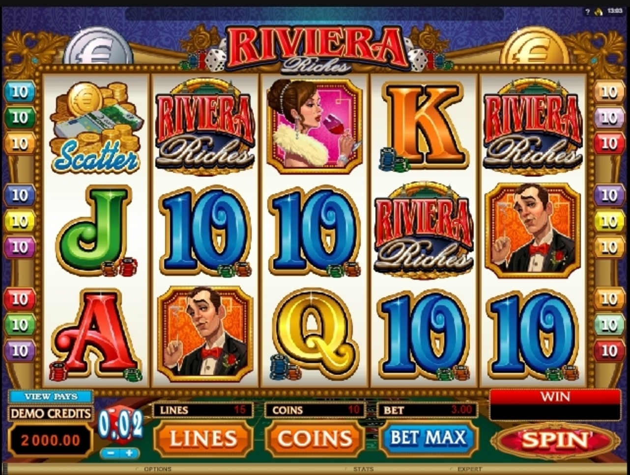 Reels in Riviera Riches Slot Game by Microgaming