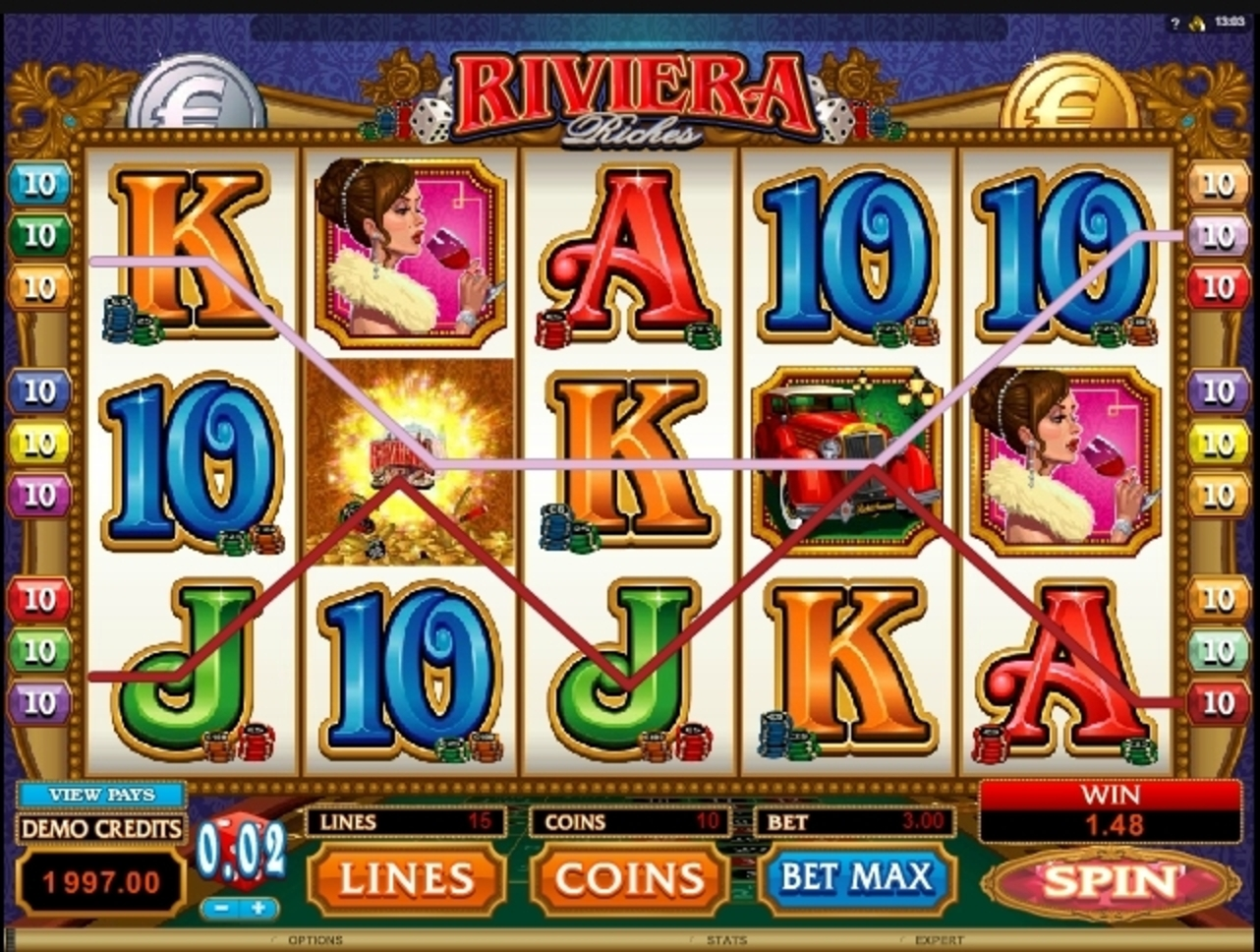 Win Money in Riviera Riches Free Slot Game by Microgaming