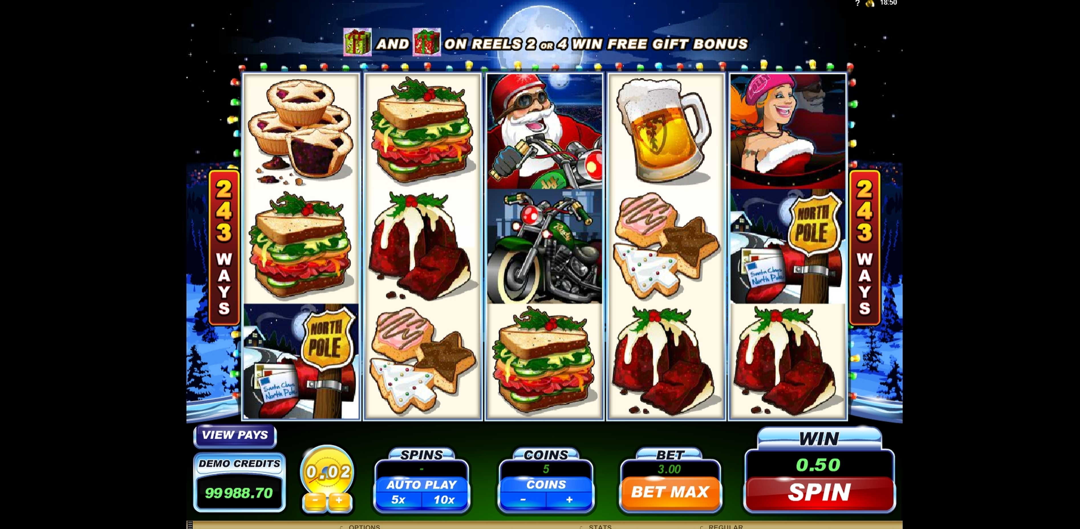 Win Money in Santa's Wild Ride Free Slot Game by Microgaming
