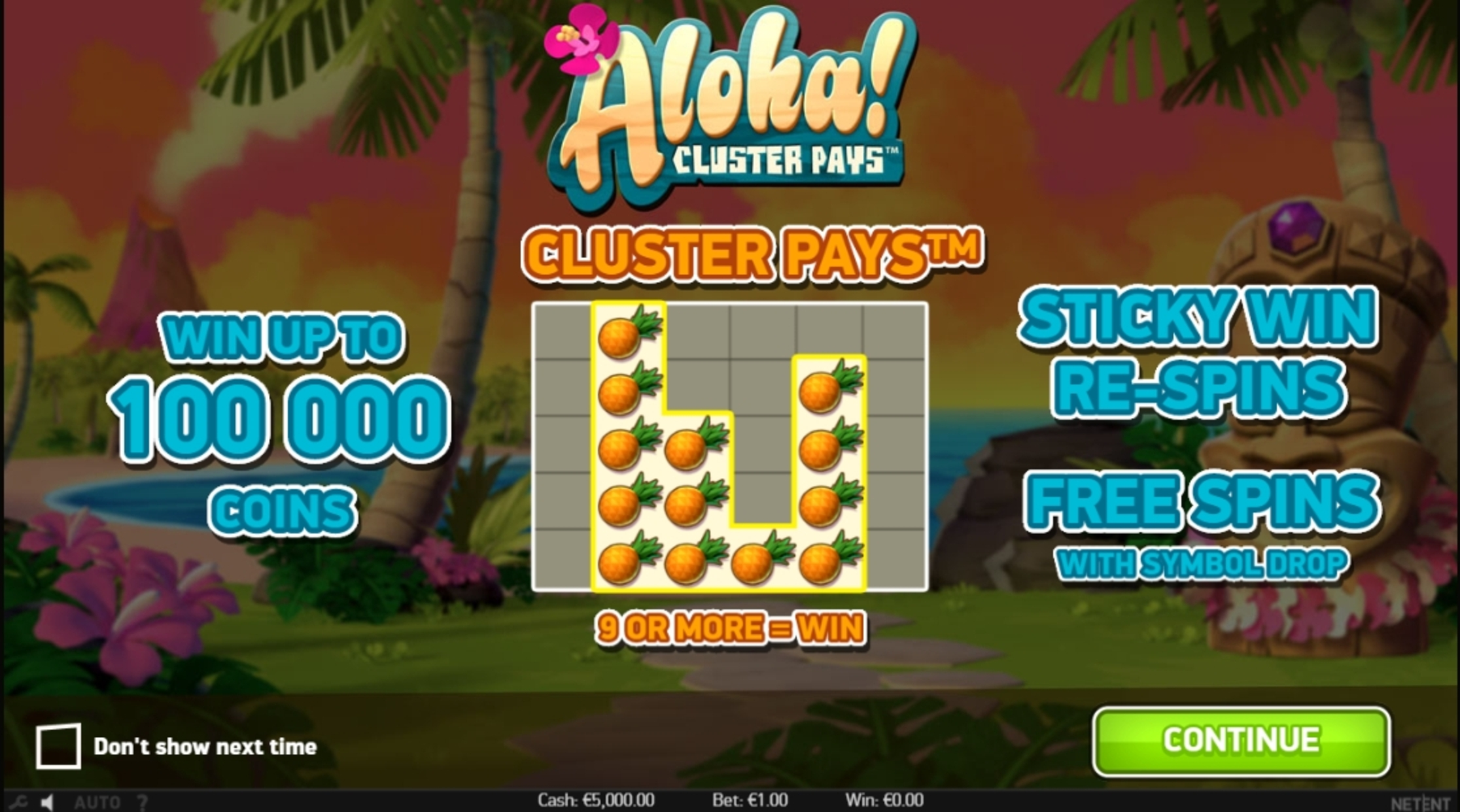 Play Aloha! Cluster Pays Free Casino Slot Game by NetEnt
