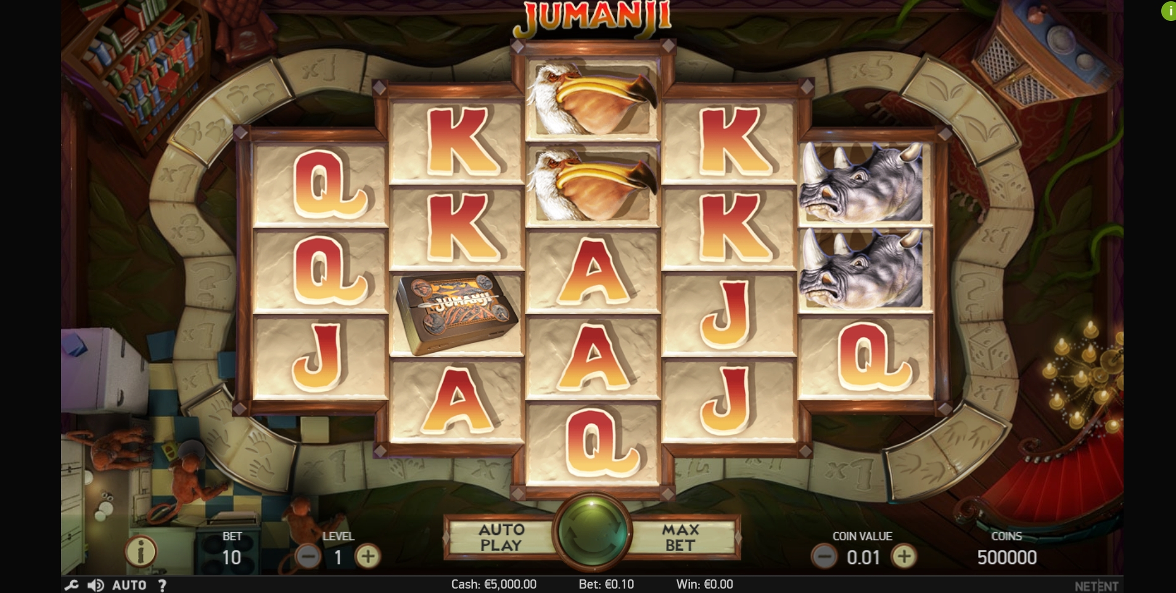 Reels in Jumanji Slot Game by NetEnt