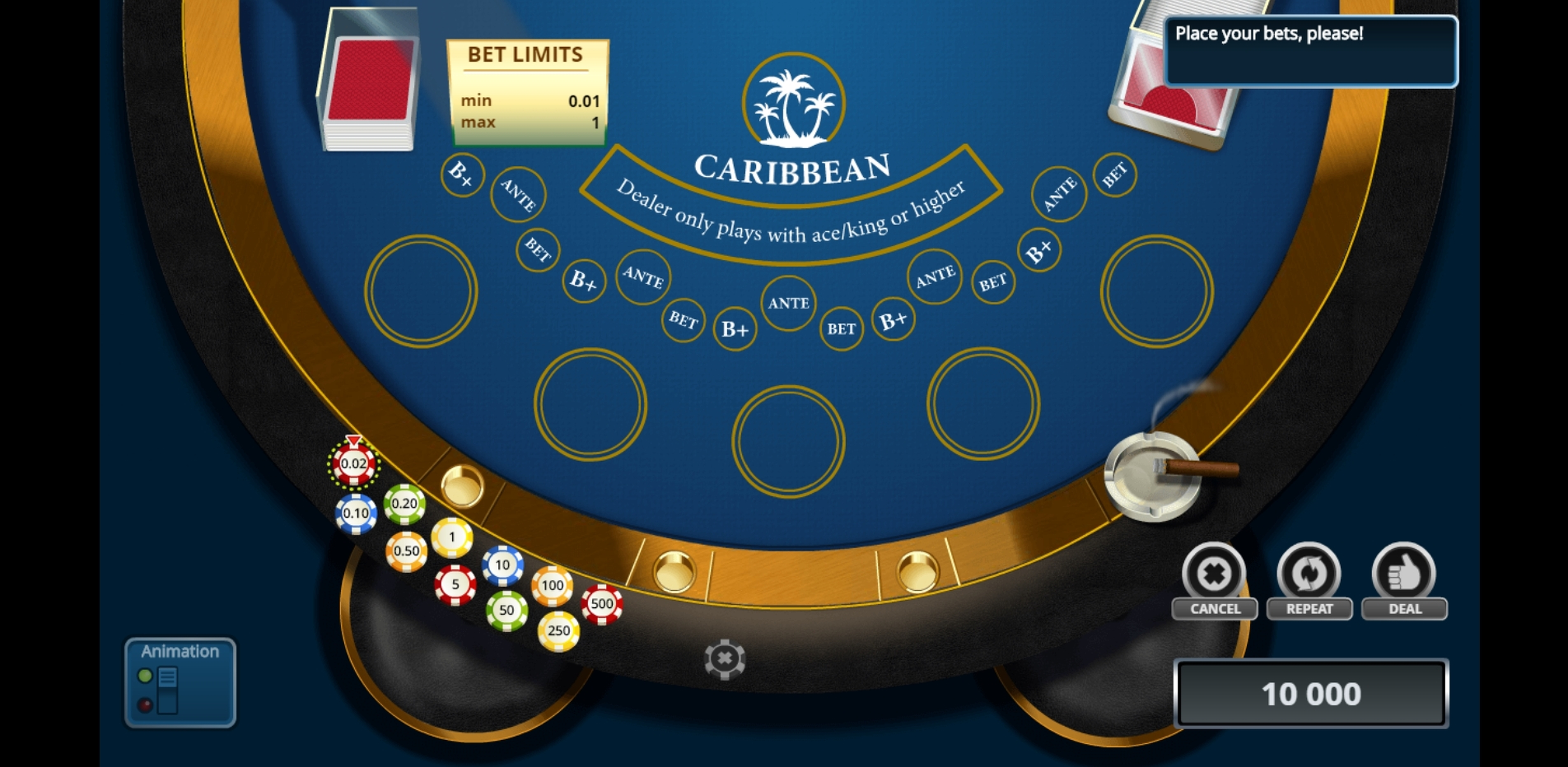 Reels in Caribbean Poker (Novomatic) Slot Game by Novomatic