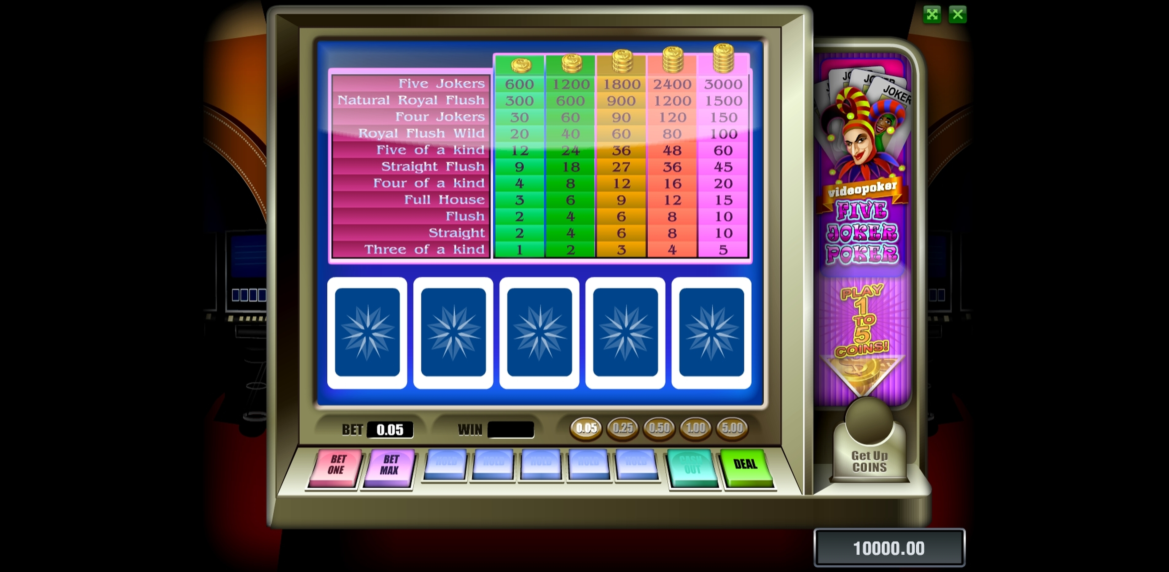 Reels in Five Joker Poker Slot Game by Novomatic