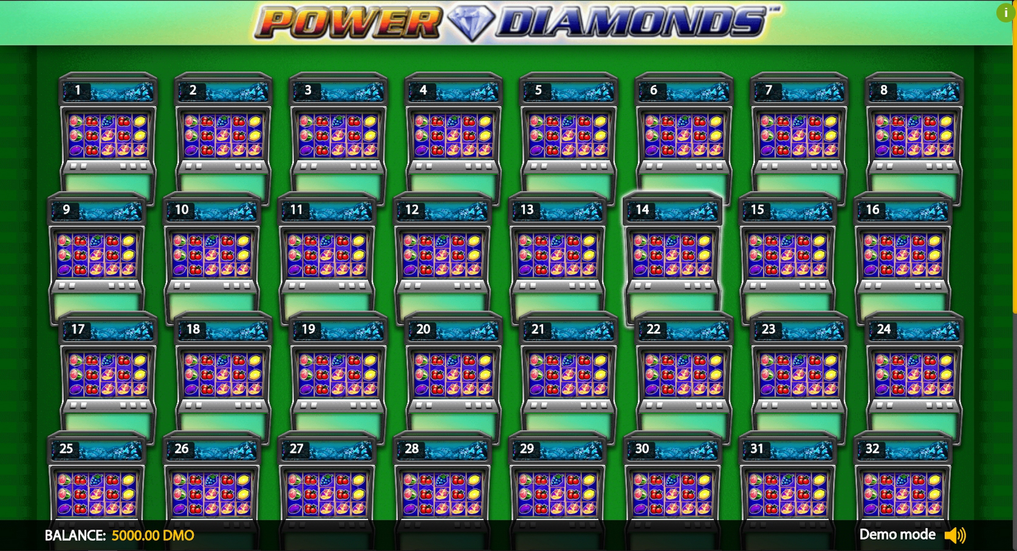 Play Power Diamonds Deluxe Free Casino Slot Game by Novomatic