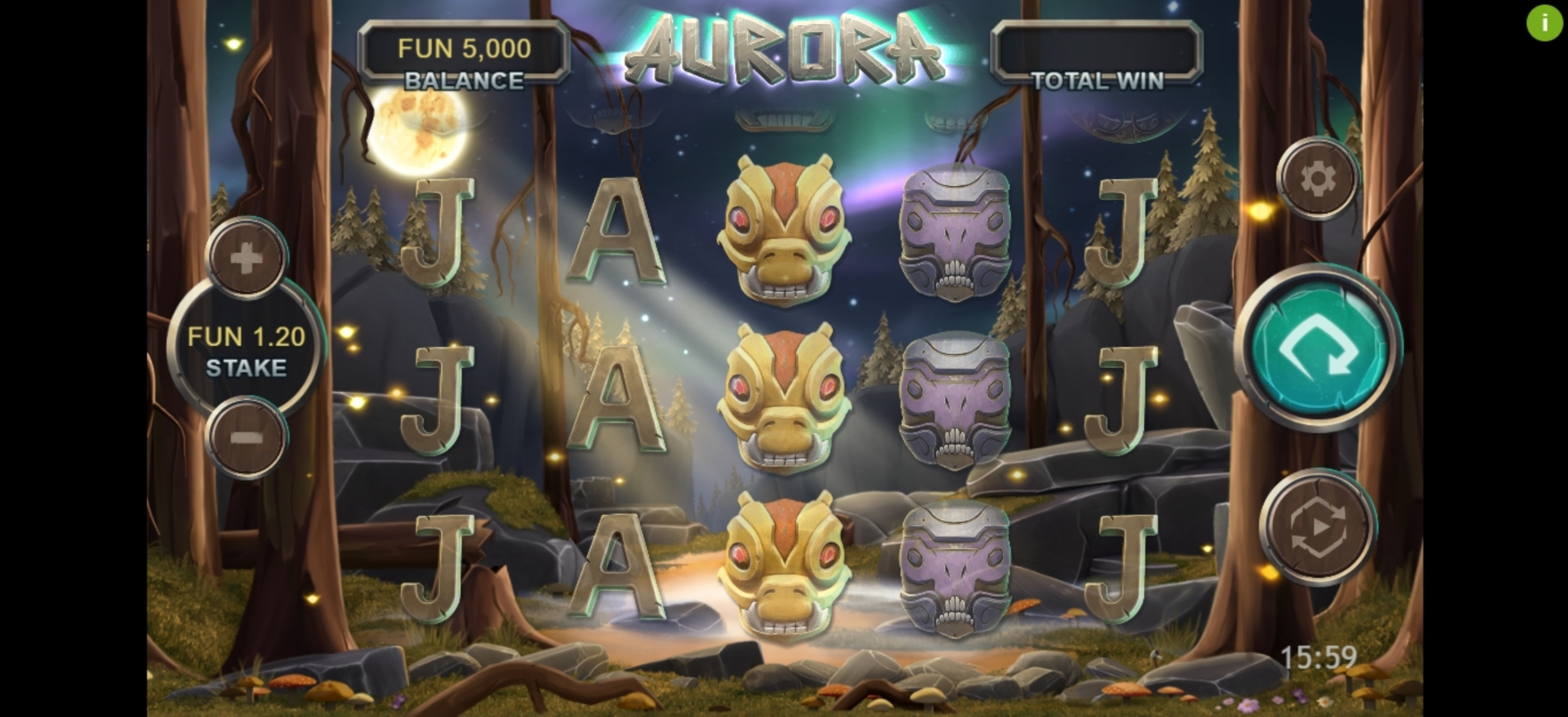 Reels in Aurora (Northern Lights Gaming) Slot Game by Northern Lights Gaming