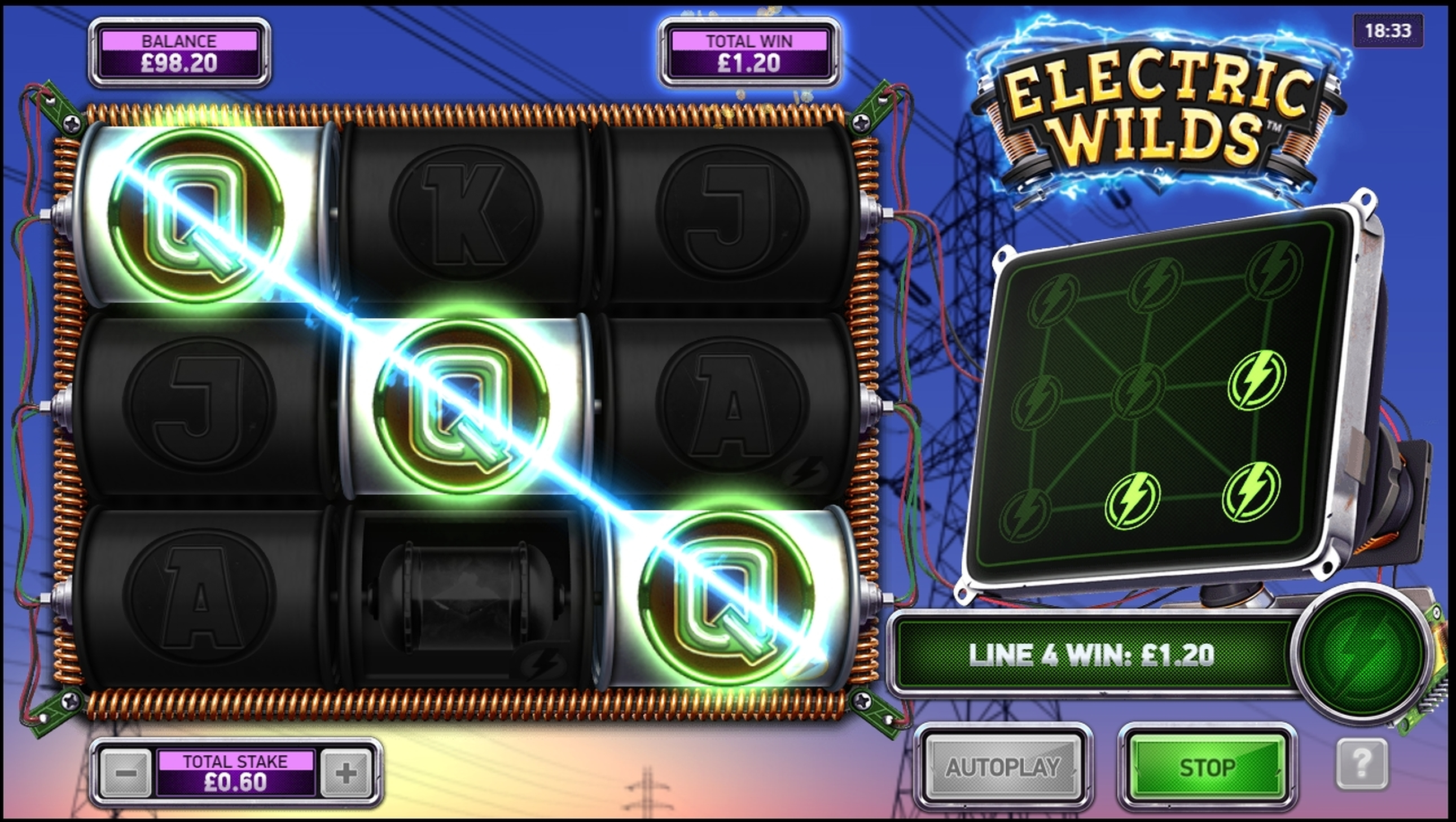 Win Money in Electric Wilds Free Slot Game by Northern Lights Gaming