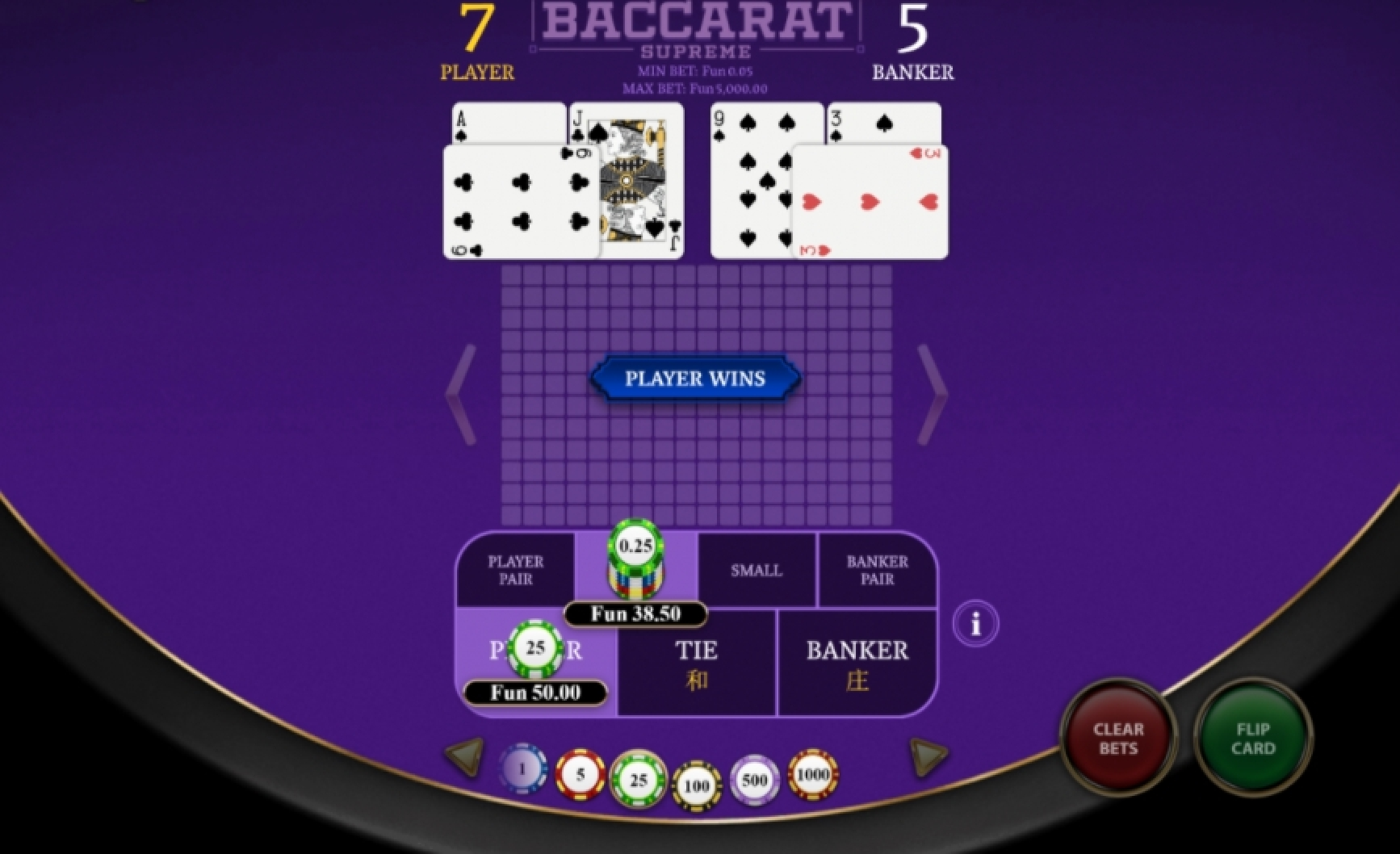 The Baccarat Supreme Online Slot Demo Game by OneTouch Games