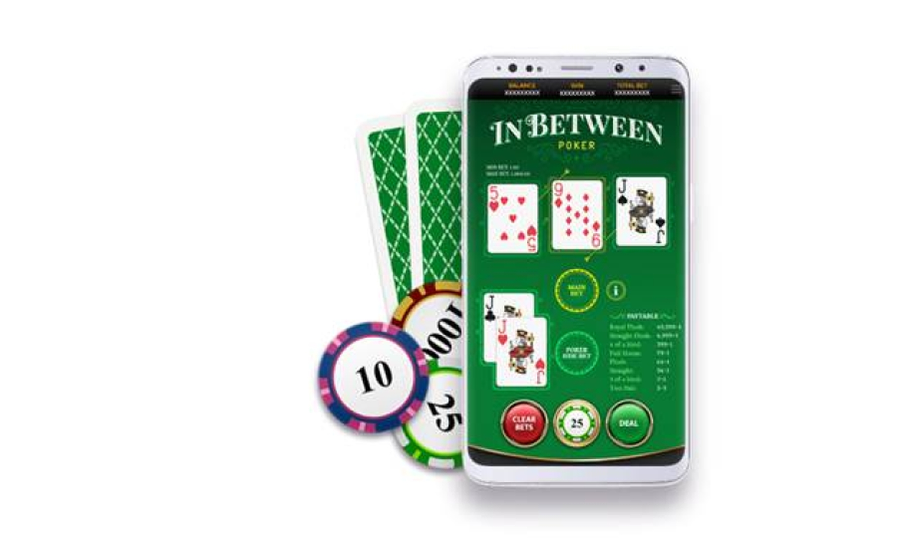 The In Between Poker Online Slot Demo Game by OneTouch Games