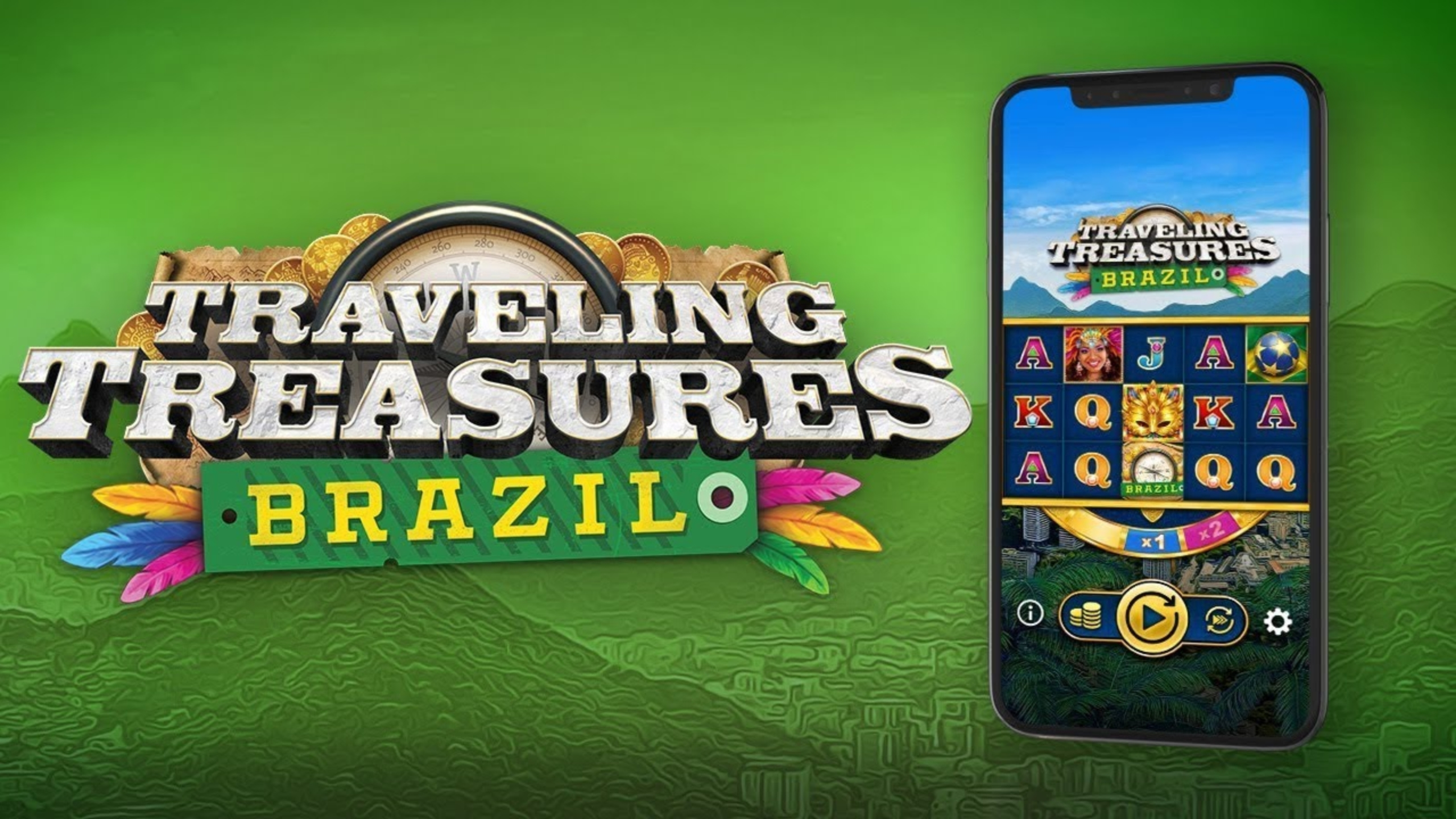 The Travelling Treasures Brazil Online Slot Demo Game by OneTouch Games