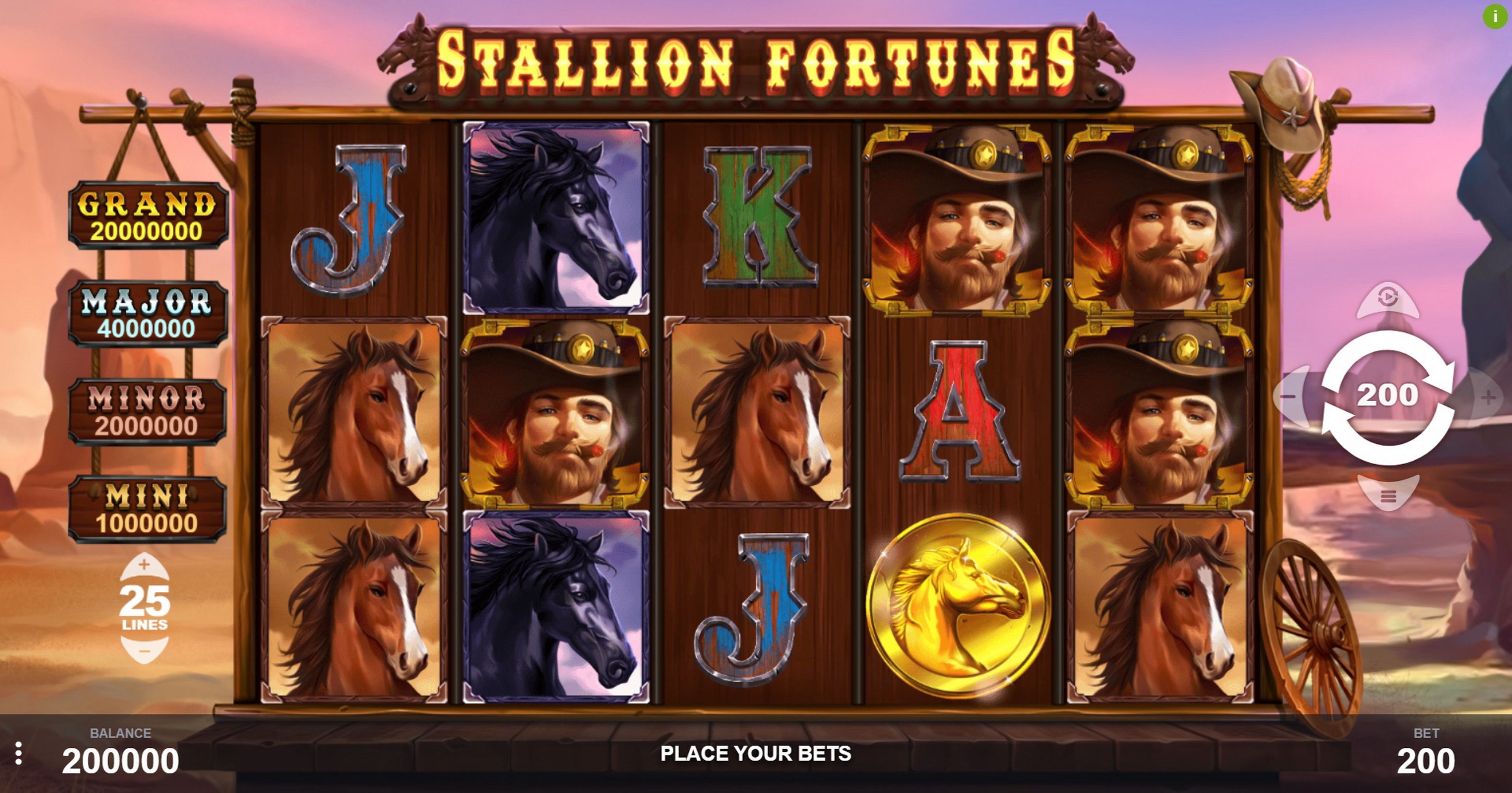 Reels in Stallion Fortunes Slot Game by PariPlay