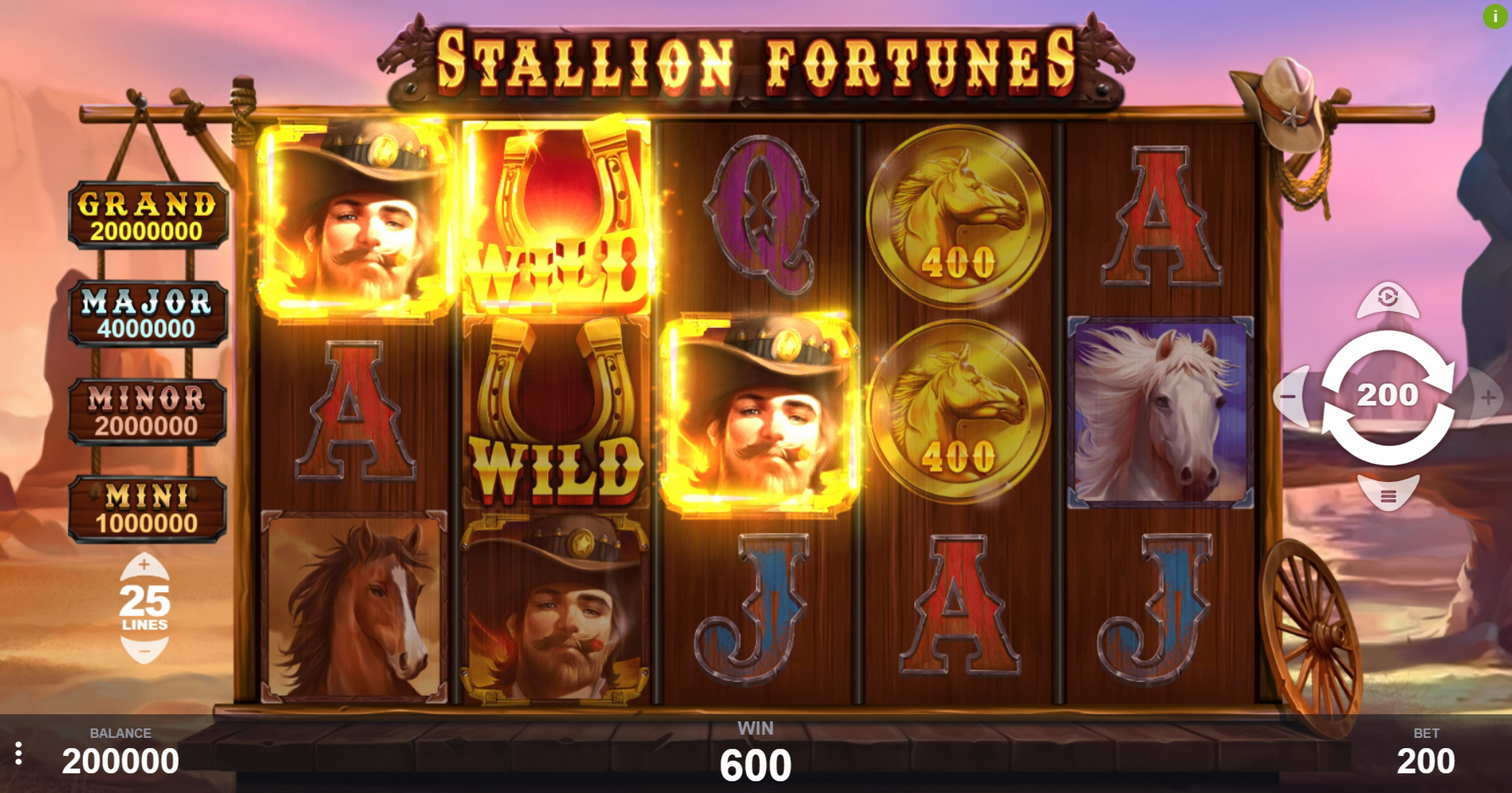Win Money in Stallion Fortunes Free Slot Game by PariPlay