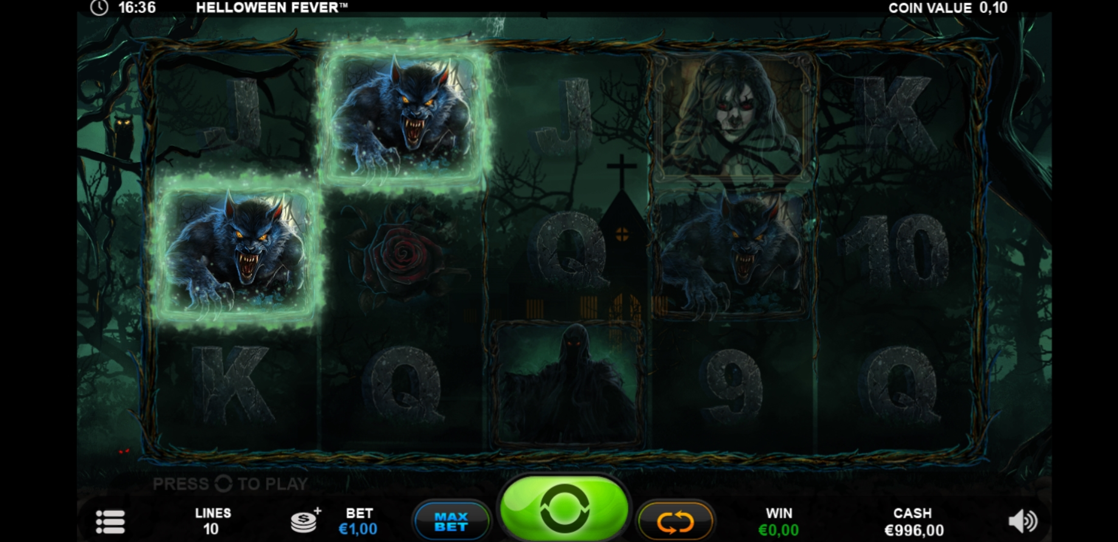 Win Money in Helloween Fever Free Slot Game by Plank Gaming