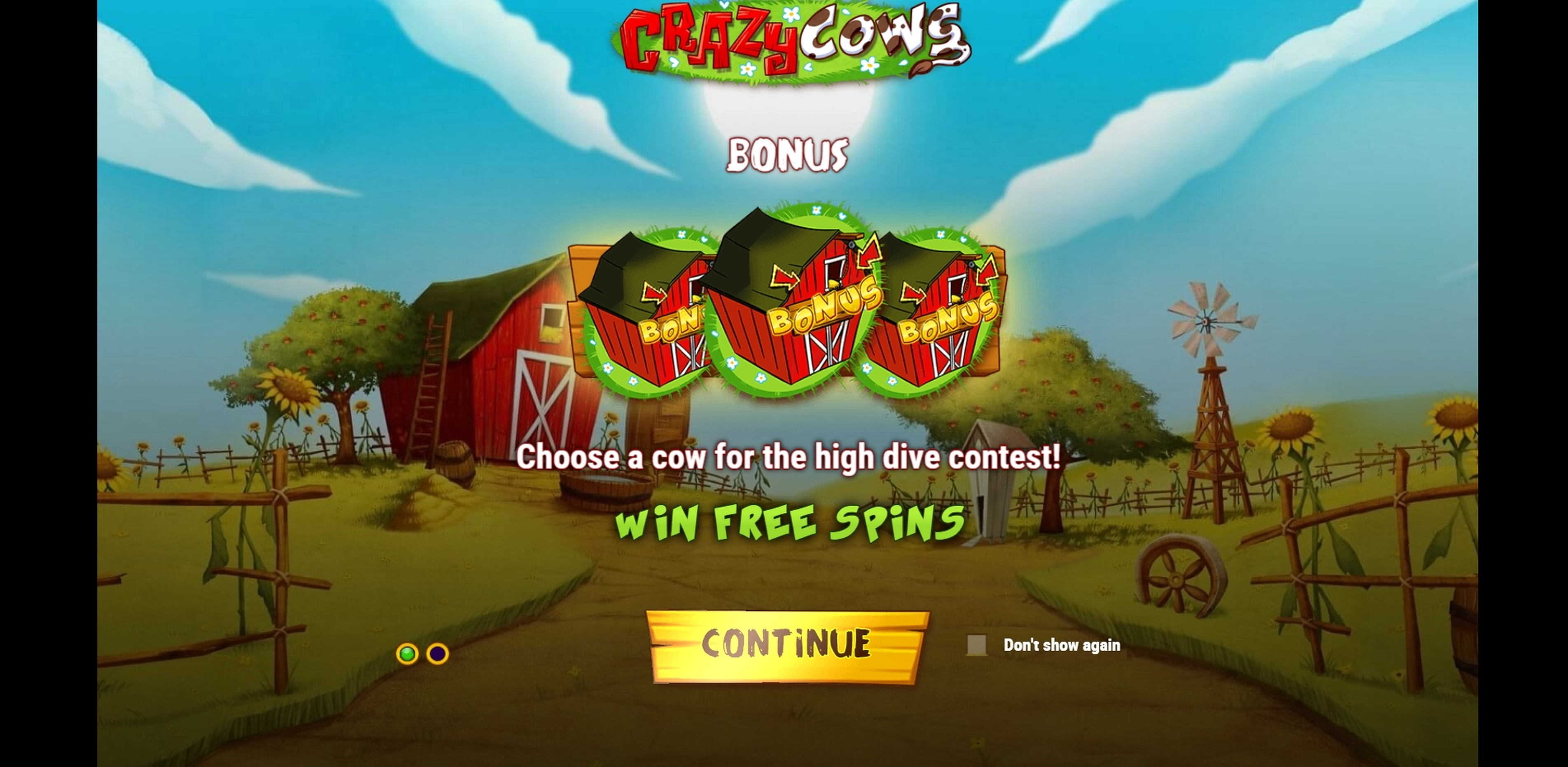 Play Crazy Cows Free Casino Slot Game by Playn GO