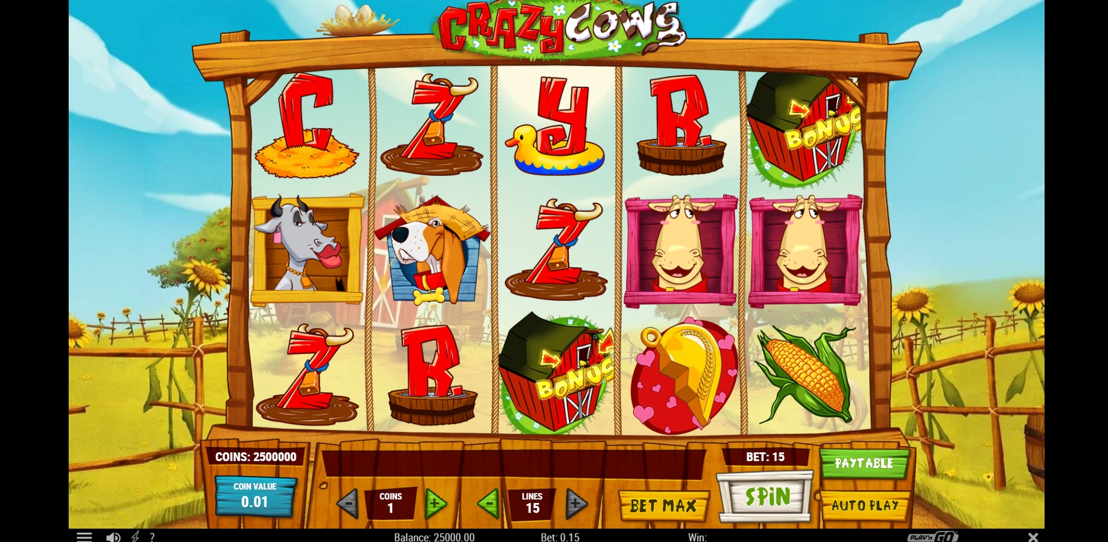 Reels in Crazy Cows Slot Game by Playn GO