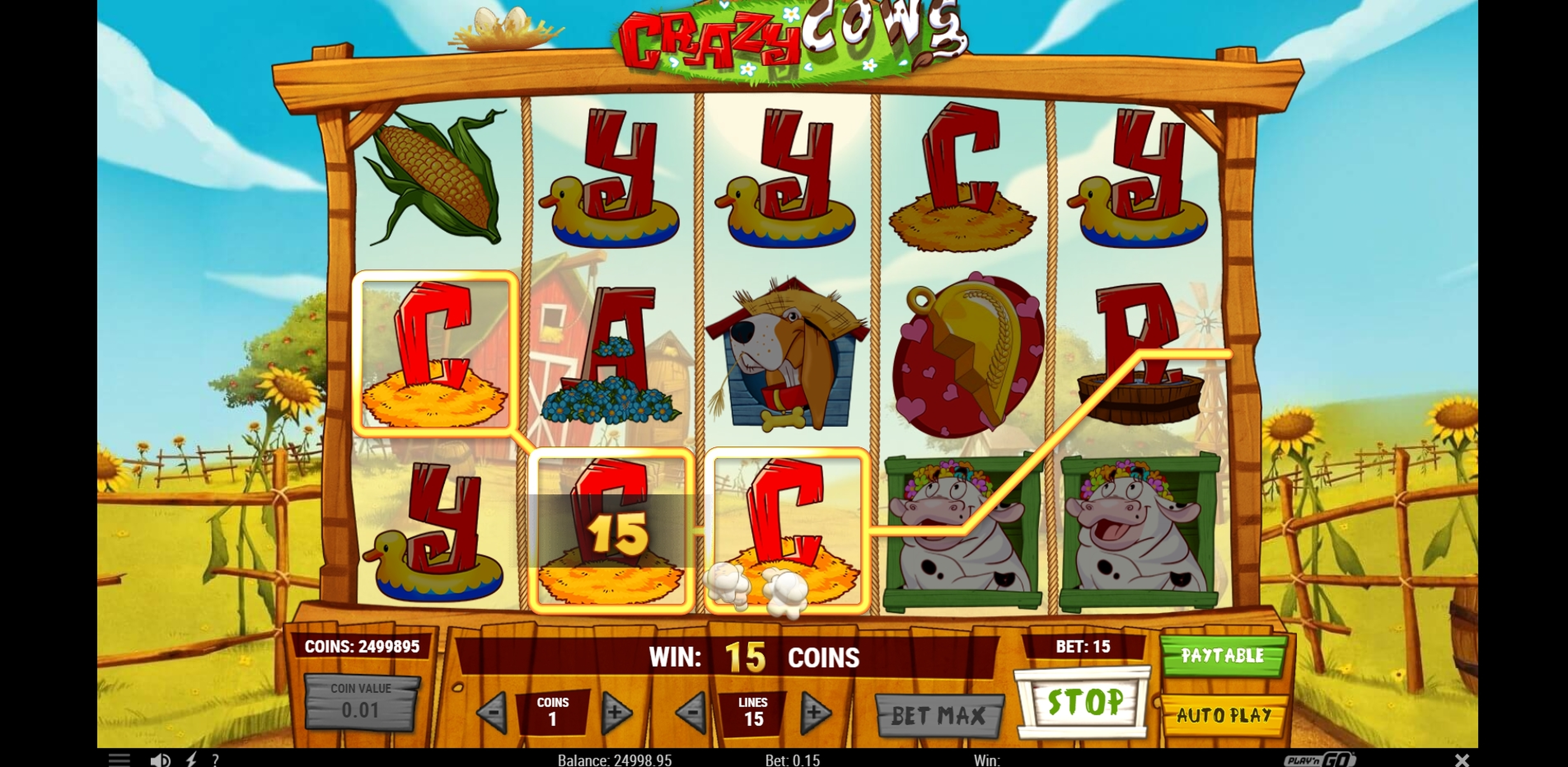 Win Money in Crazy Cows Free Slot Game by Playn GO
