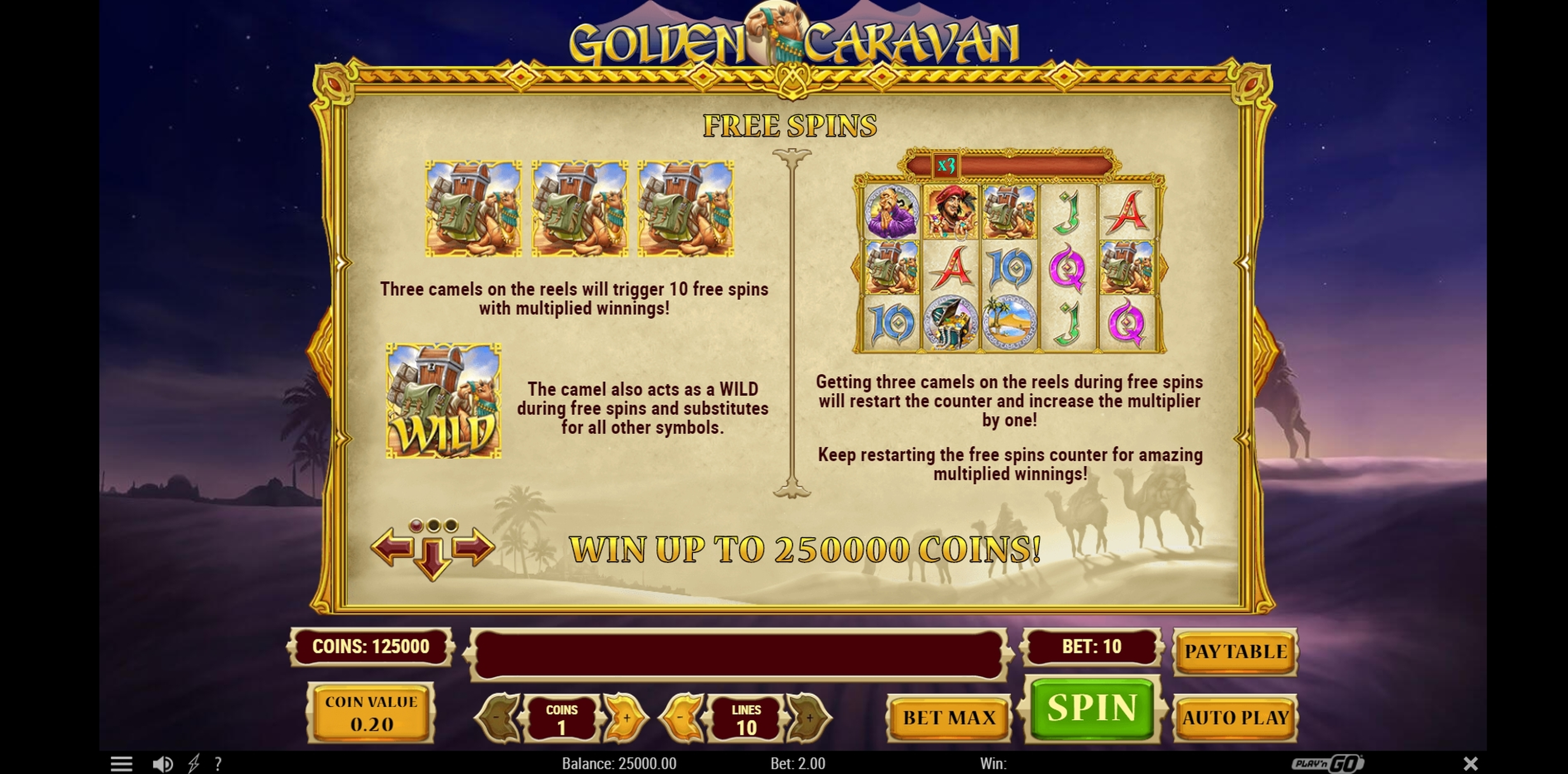 Info of Golden Caravan Slot Game by Playn GO