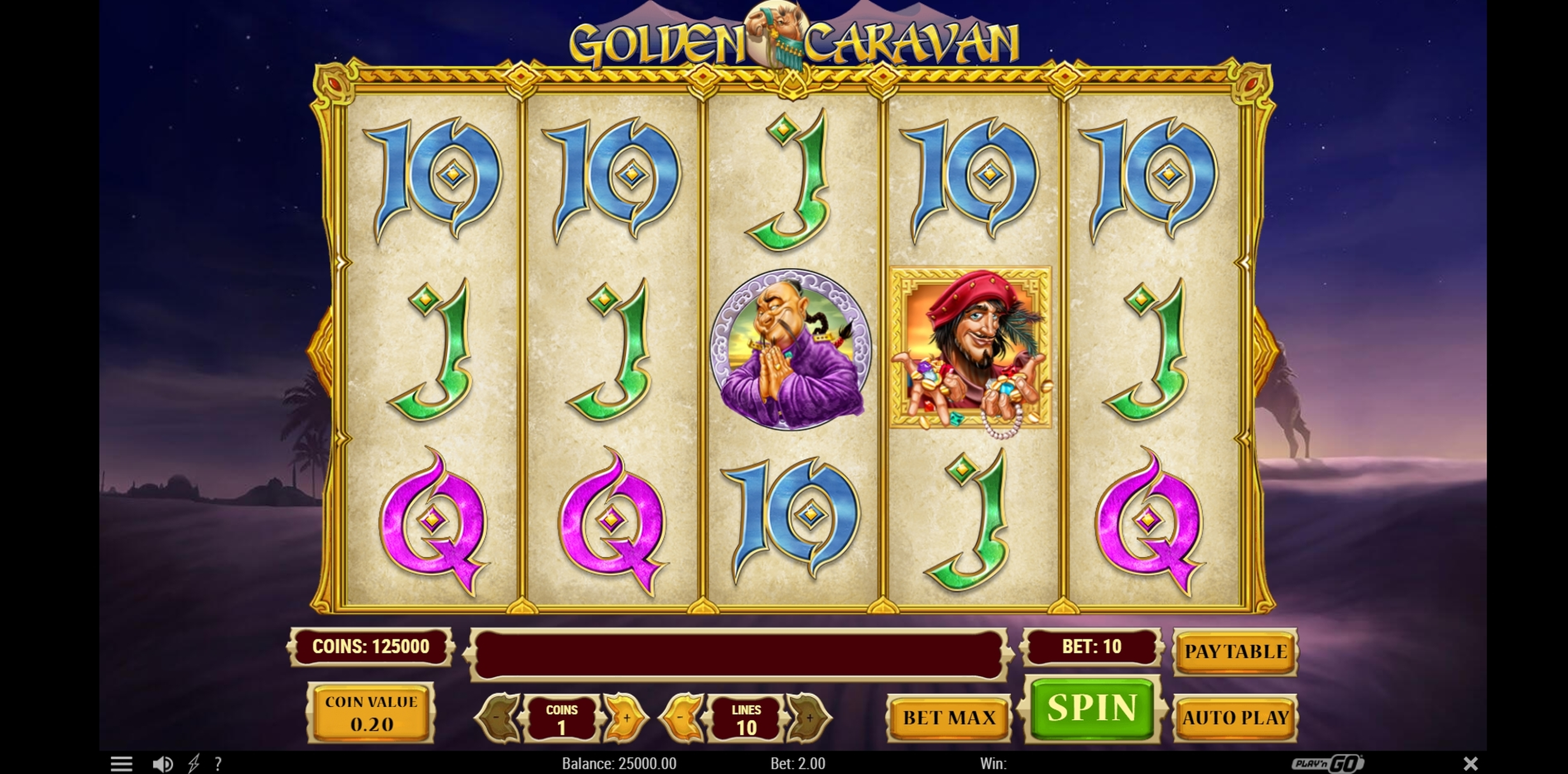 Reels in Golden Caravan Slot Game by Playn GO