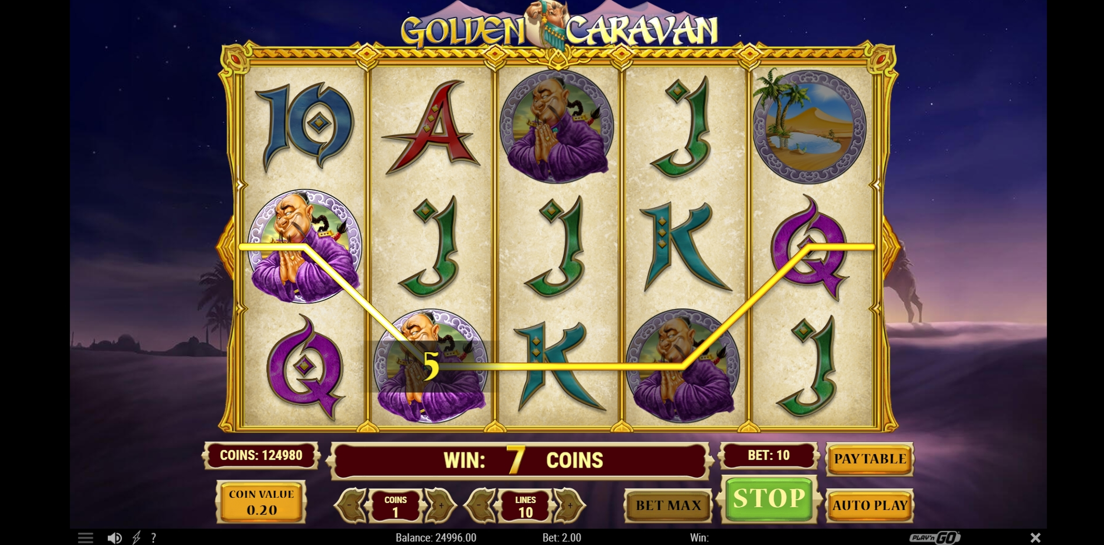 Win Money in Golden Caravan Free Slot Game by Playn GO