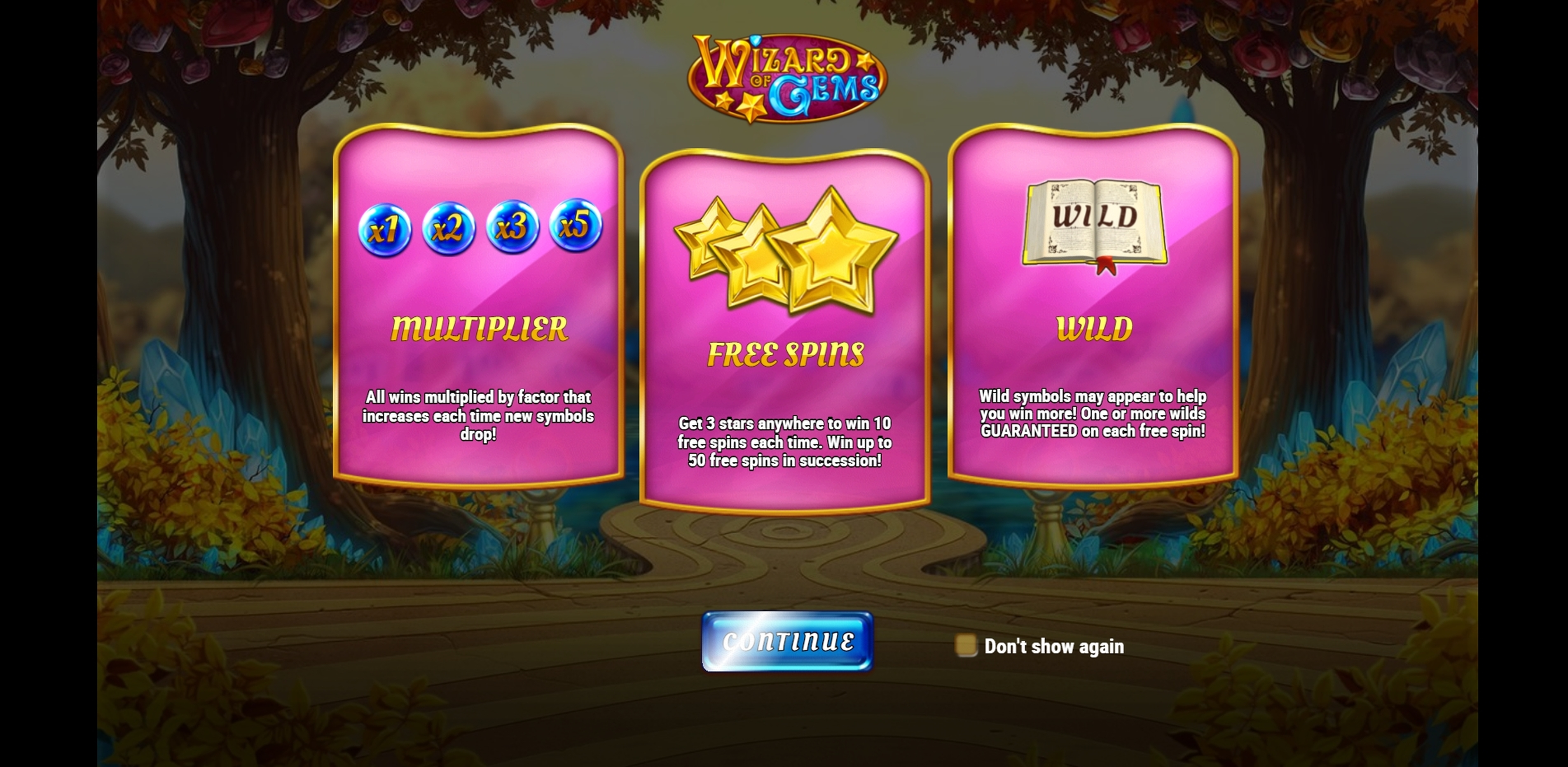 Play Wizard of Gems Free Casino Slot Game by Playn GO