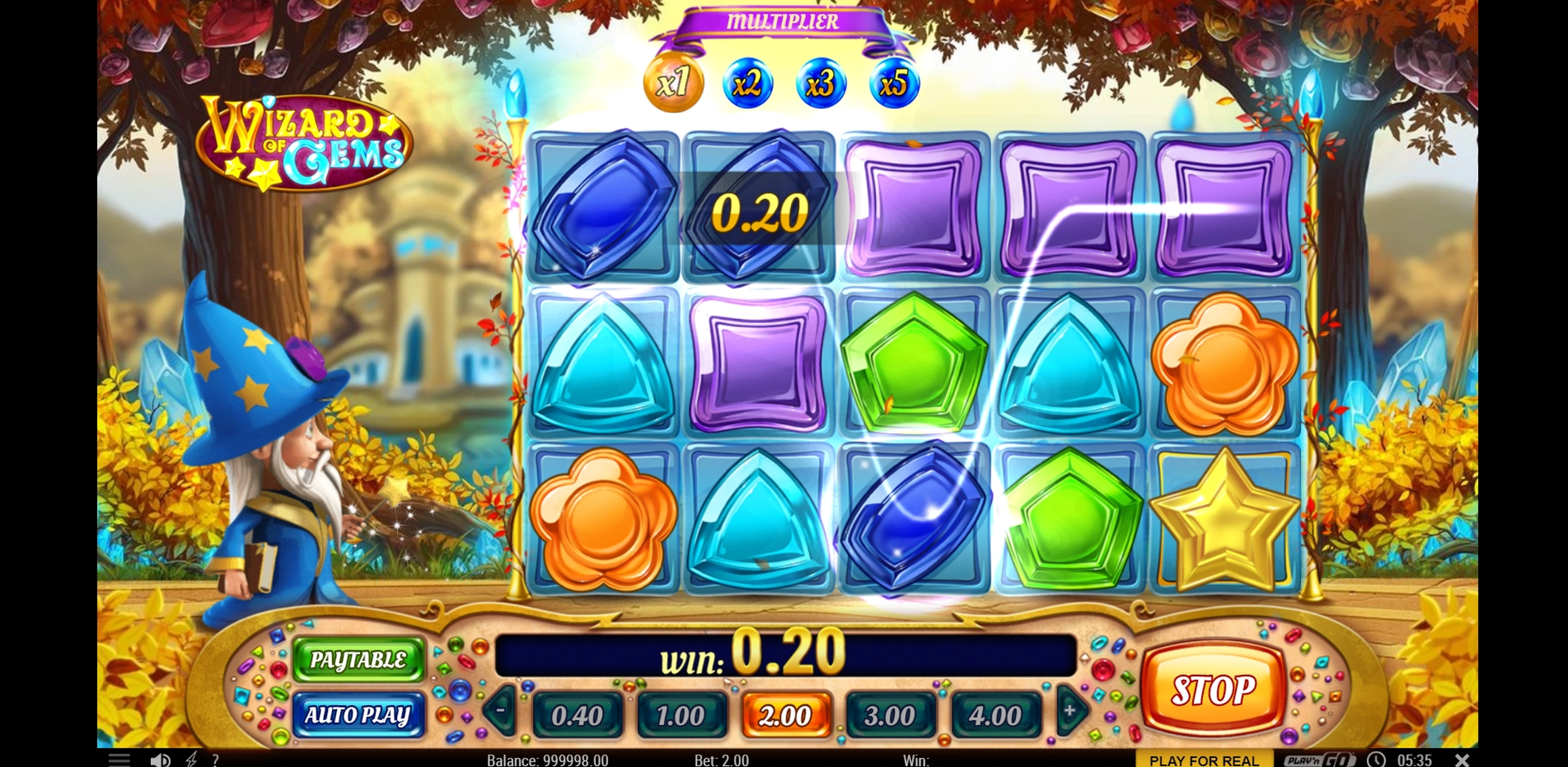 Win Money in Wizard of Gems Free Slot Game by Playn GO