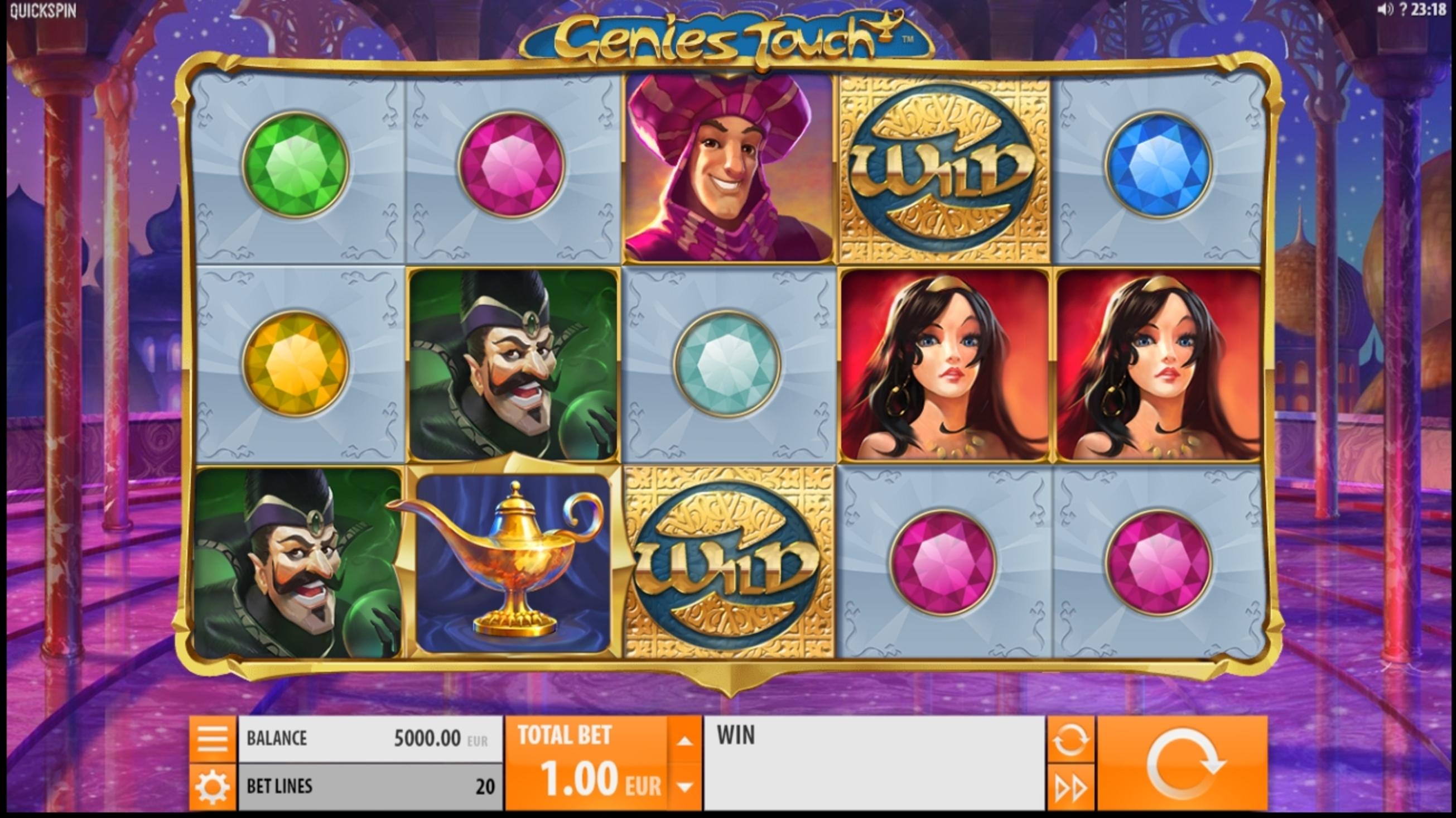 Reels in Genies Touch Slot Game by Quickspin