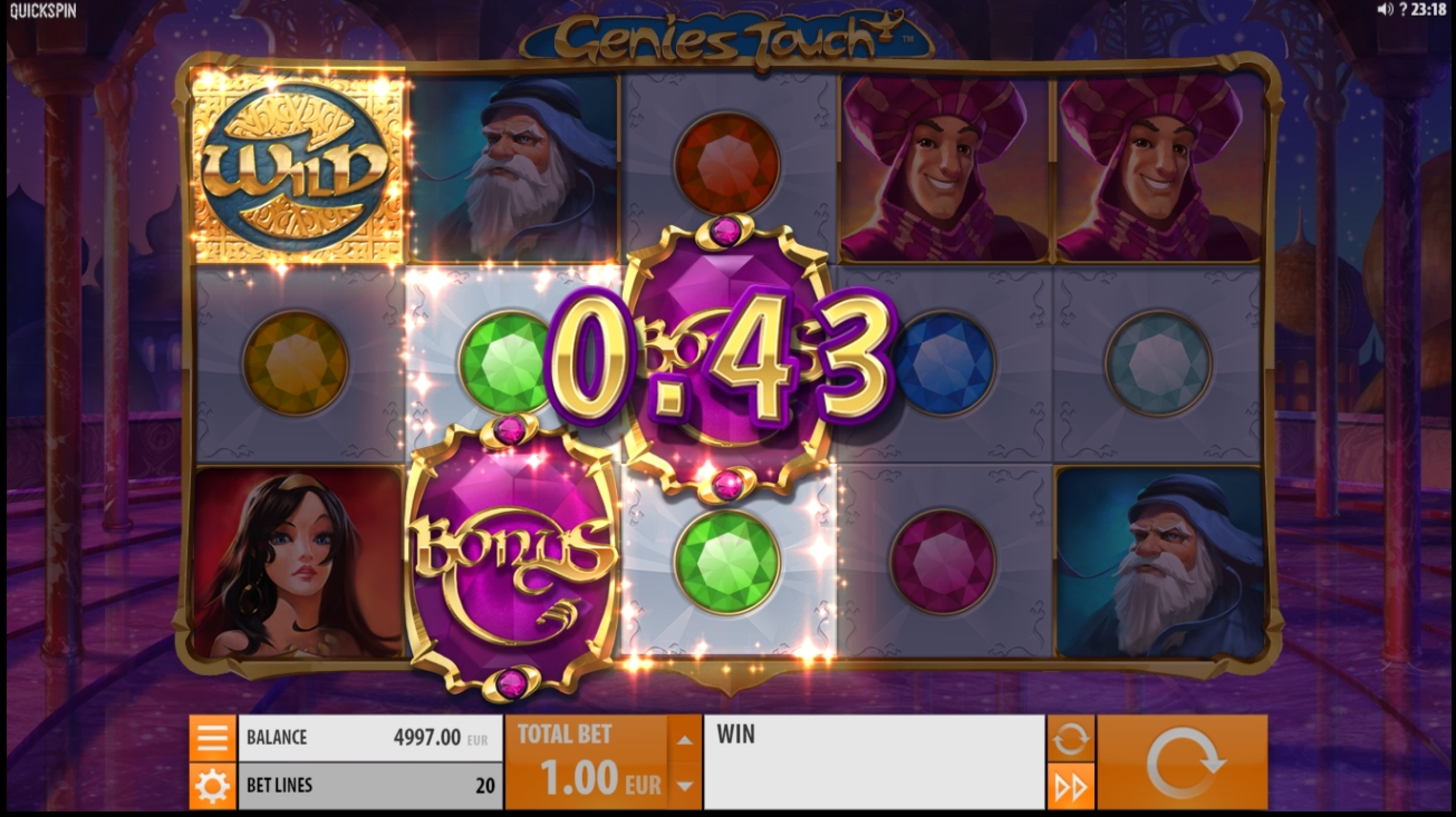 Win Money in Genies Touch Free Slot Game by Quickspin