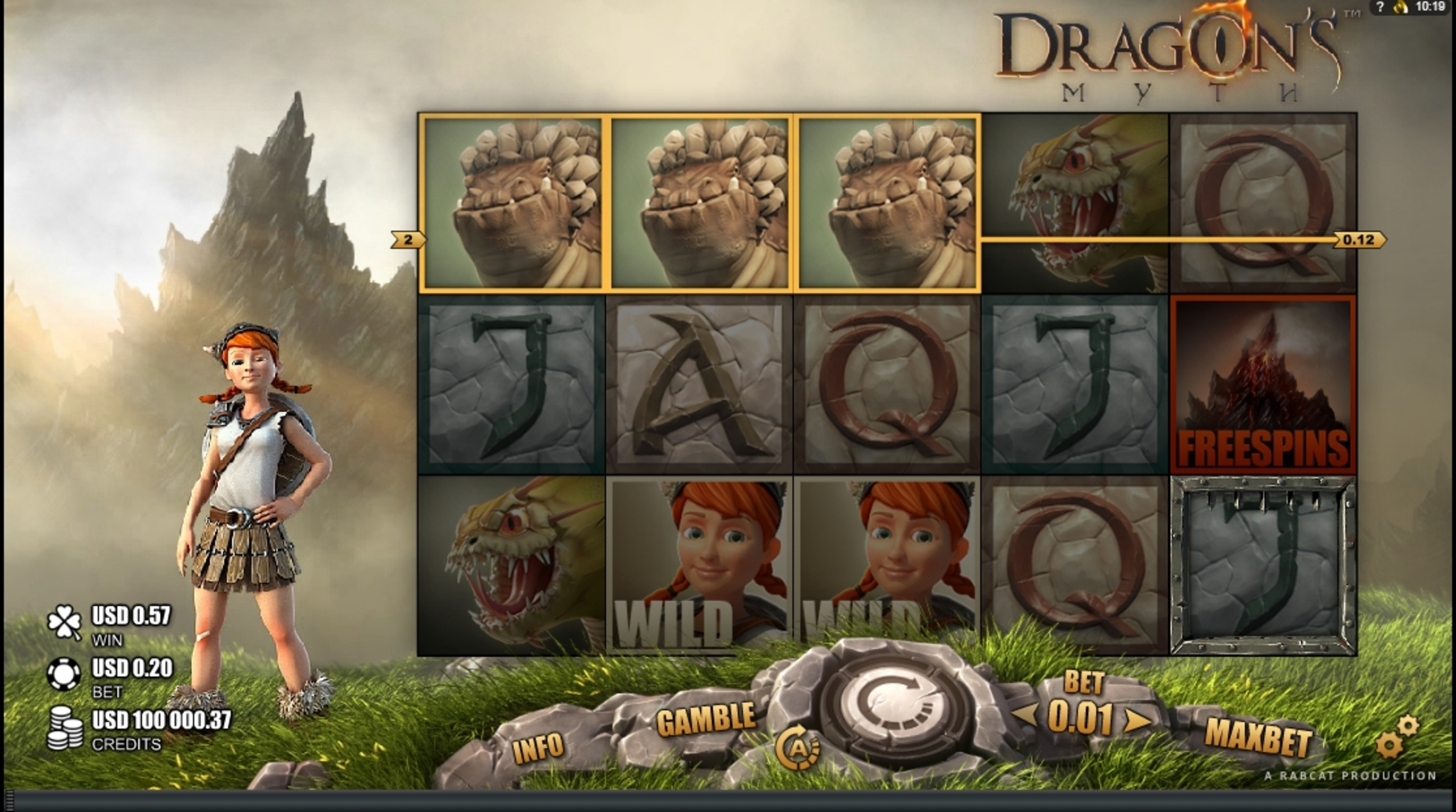 Win Money in Dragon's Myth Free Slot Game by Rabcat