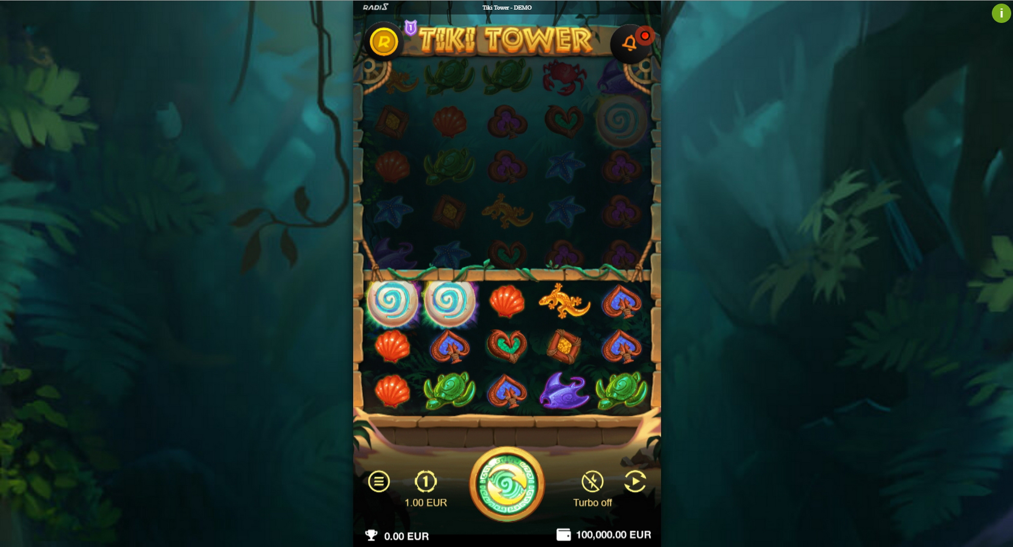 Reels in Tiki Tower Slot Game by Radi8