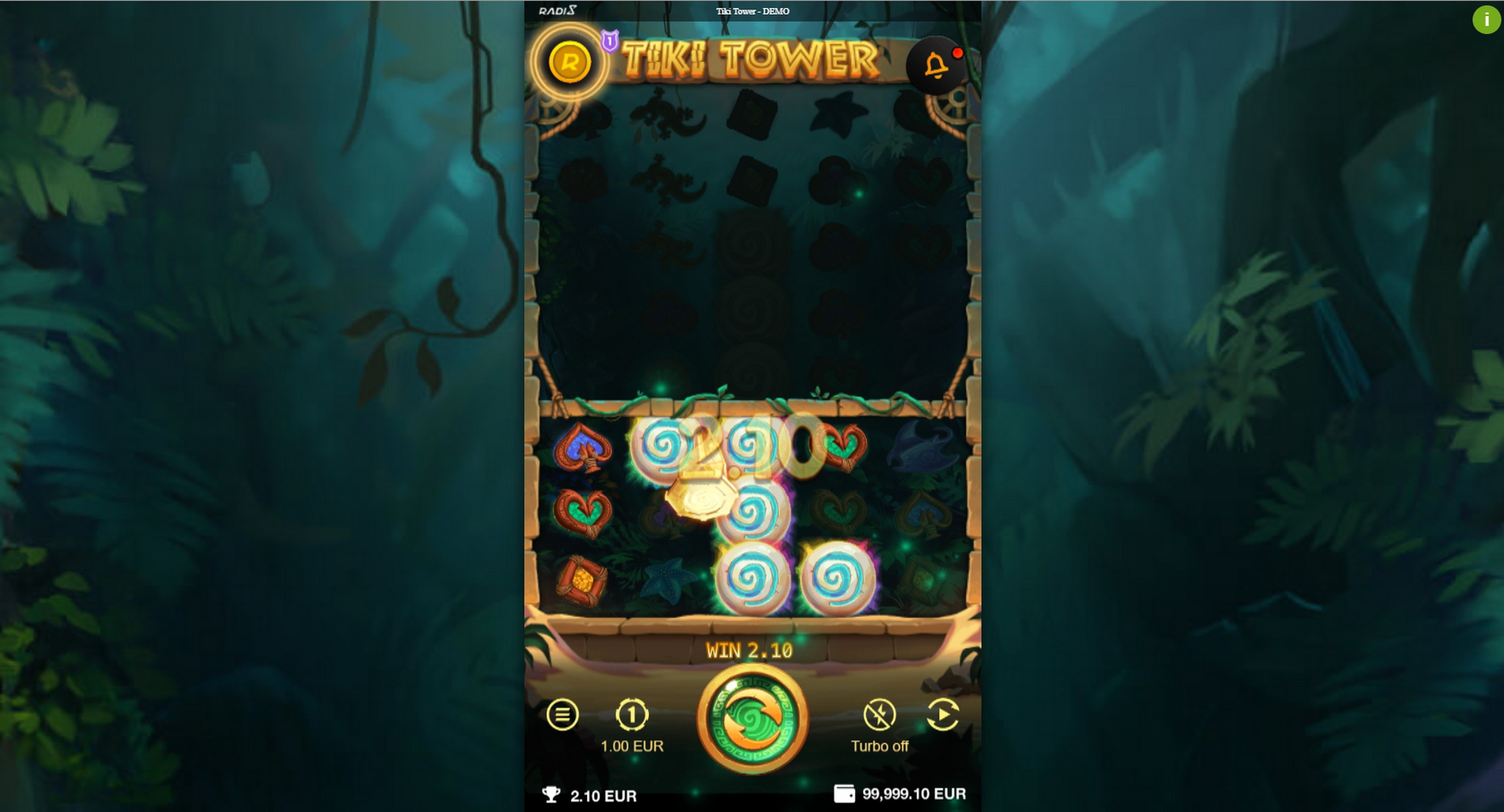Win Money in Tiki Tower Free Slot Game by Radi8
