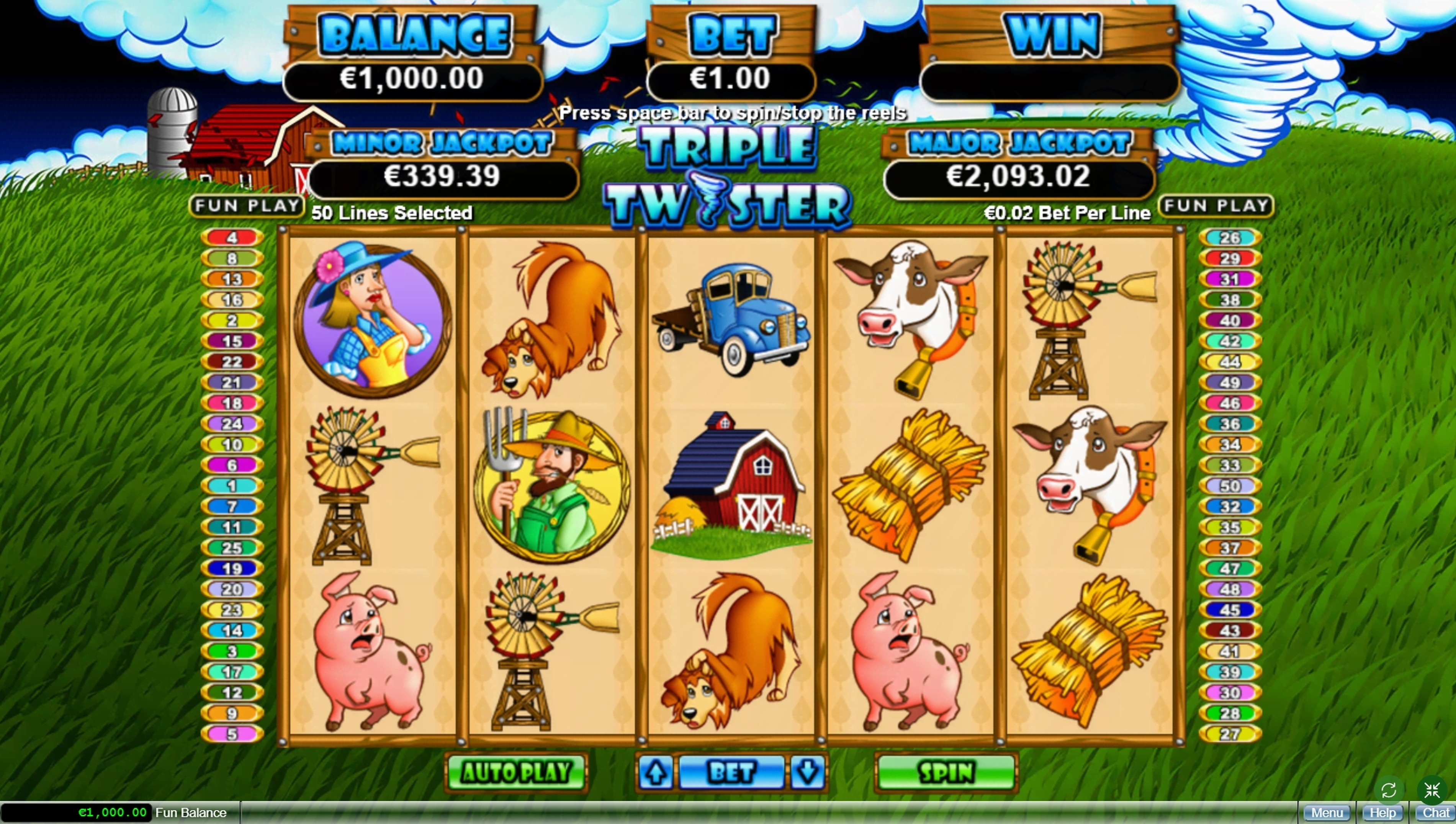 Reels in Triple Twister Slot Game by Real Time Gaming