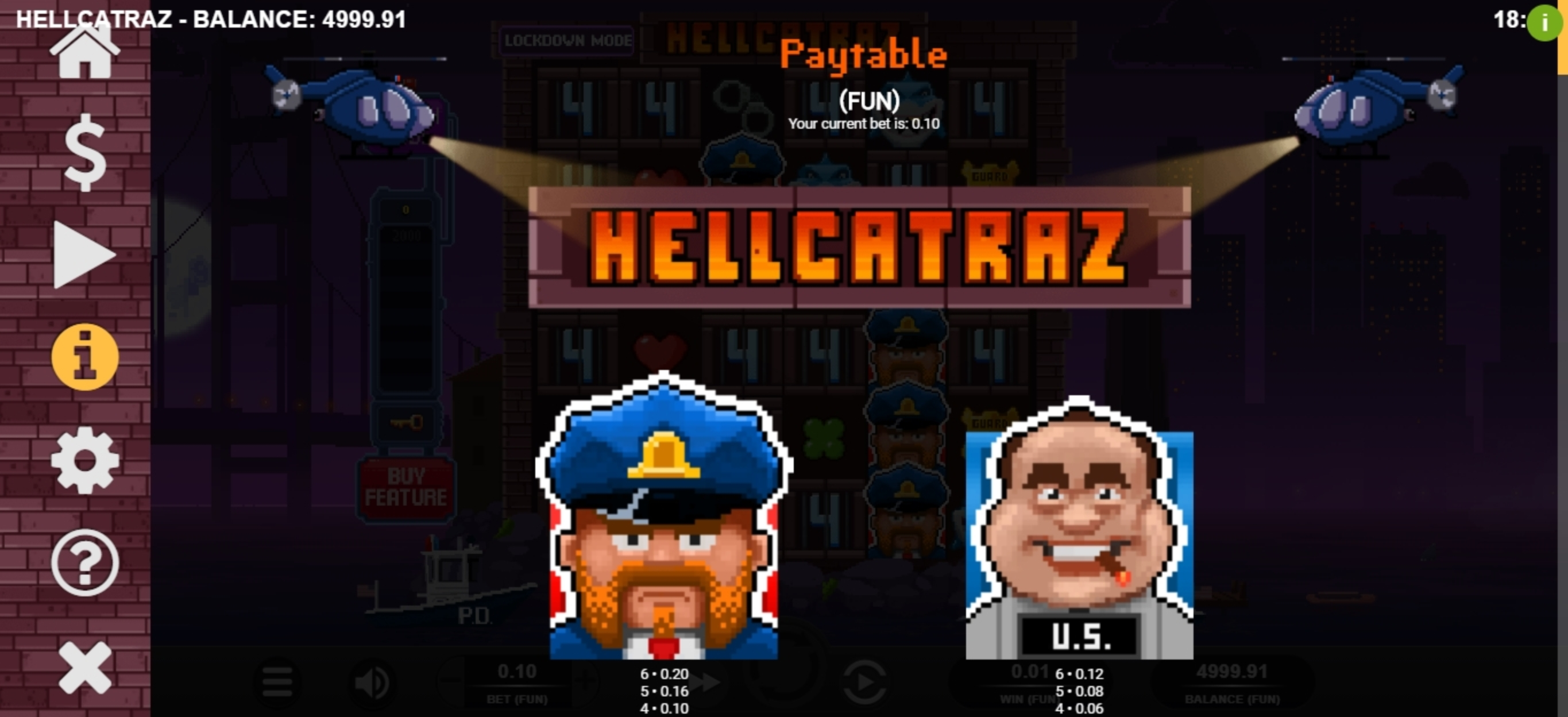 Info of Hellcatraz Slot Game by Relax Gaming