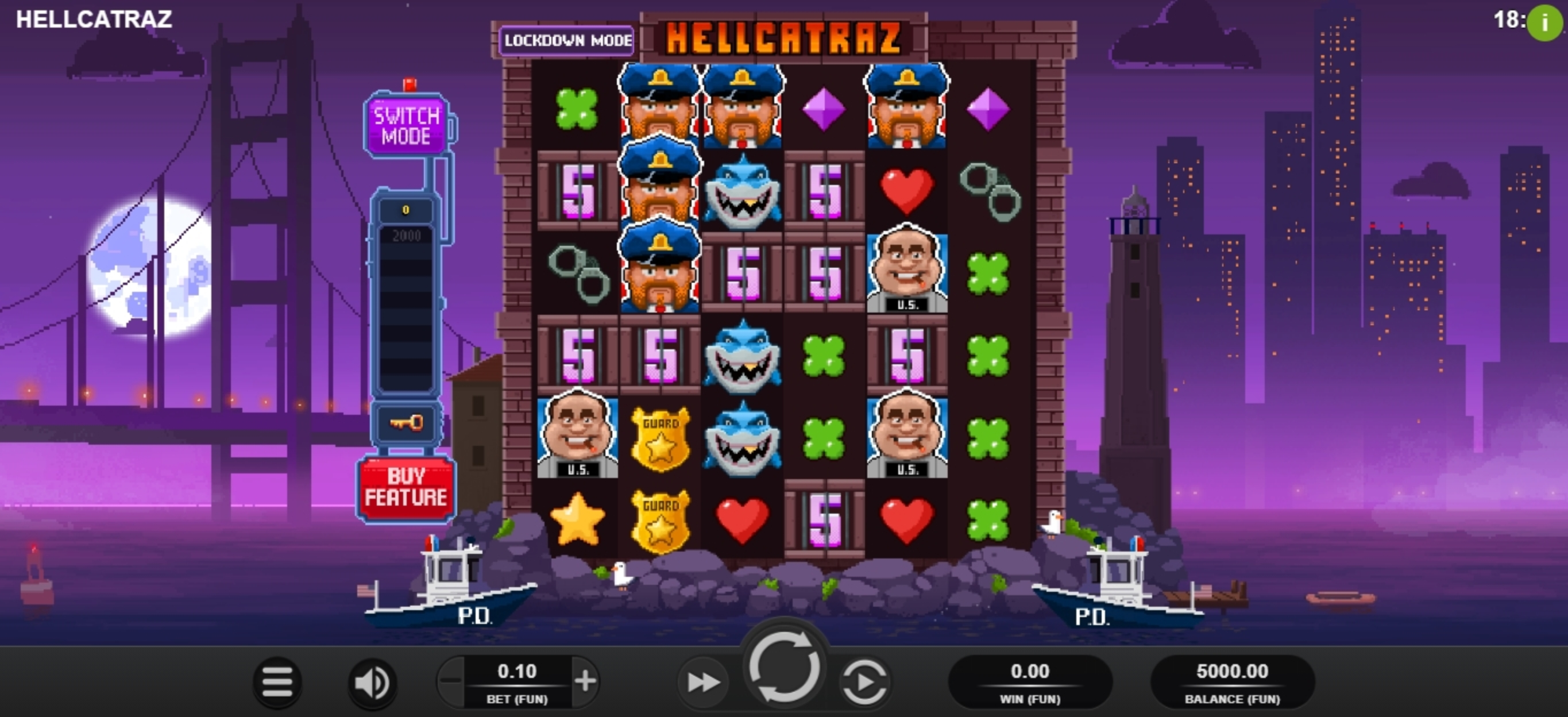 Reels in Hellcatraz Slot Game by Relax Gaming