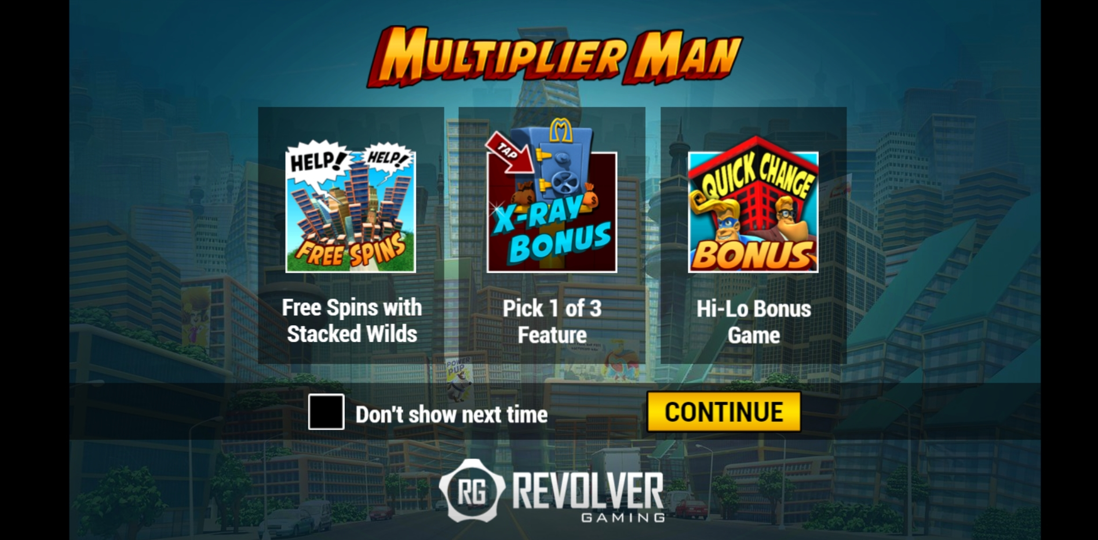 Play Multiplier Man Free Casino Slot Game by Revolver Gaming