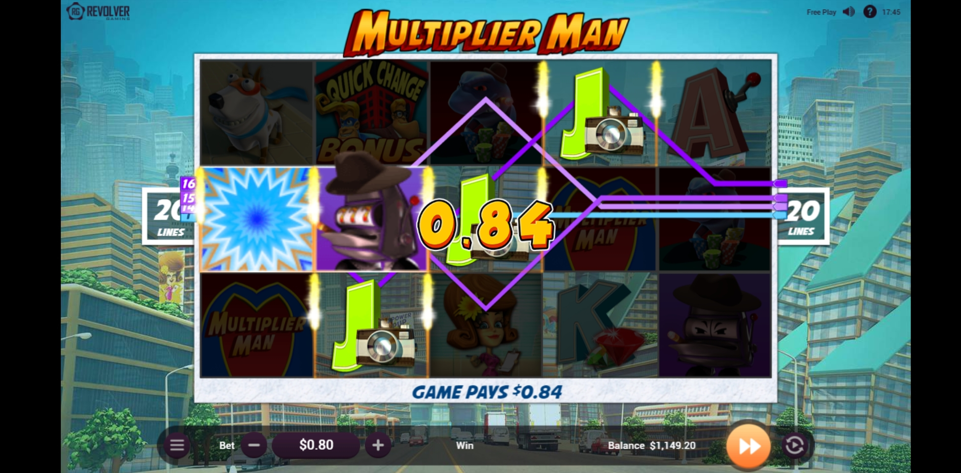 Win Money in Multiplier Man Free Slot Game by Revolver Gaming