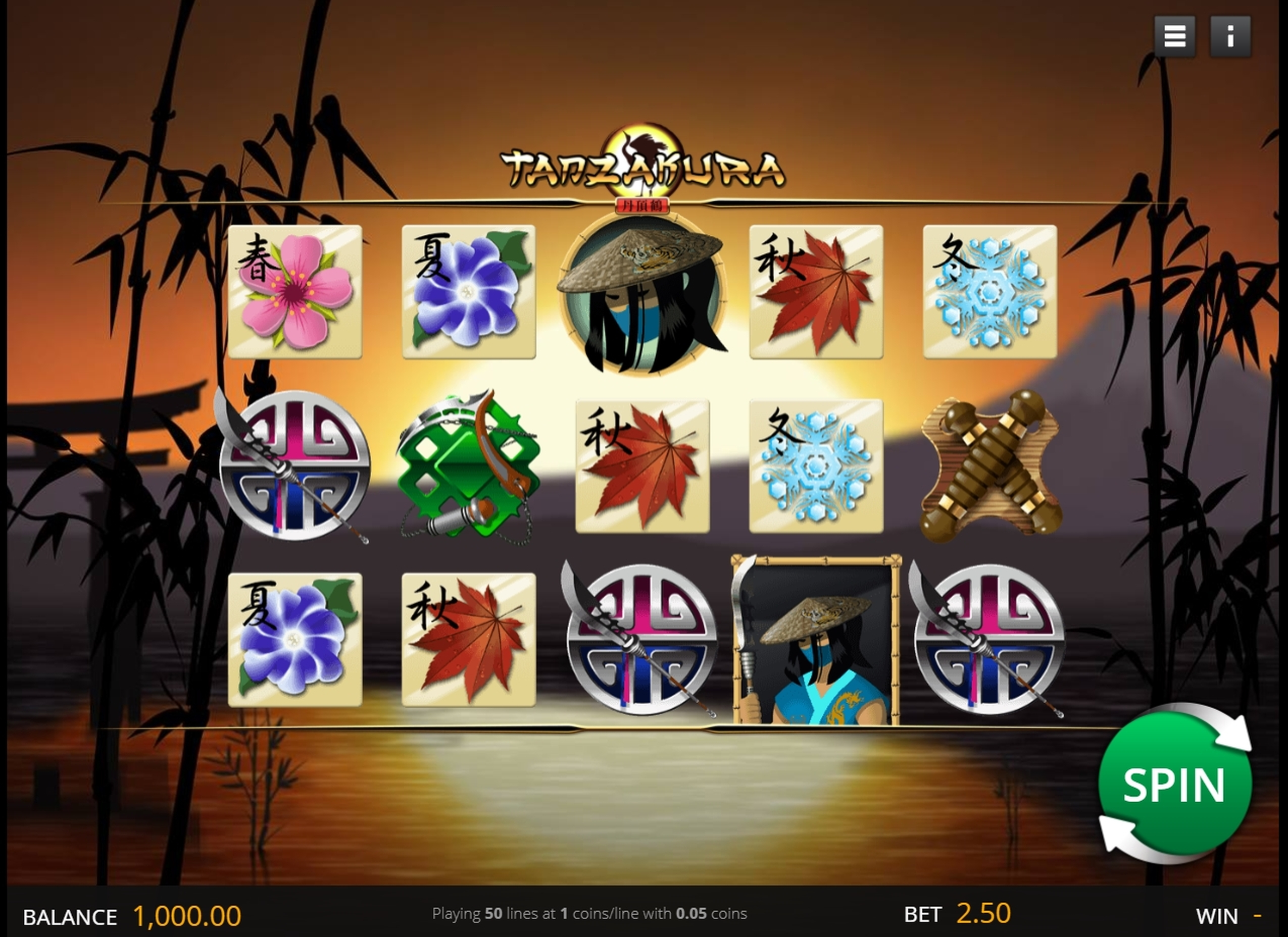 Reels in Tanzakura Slot Game by saucify