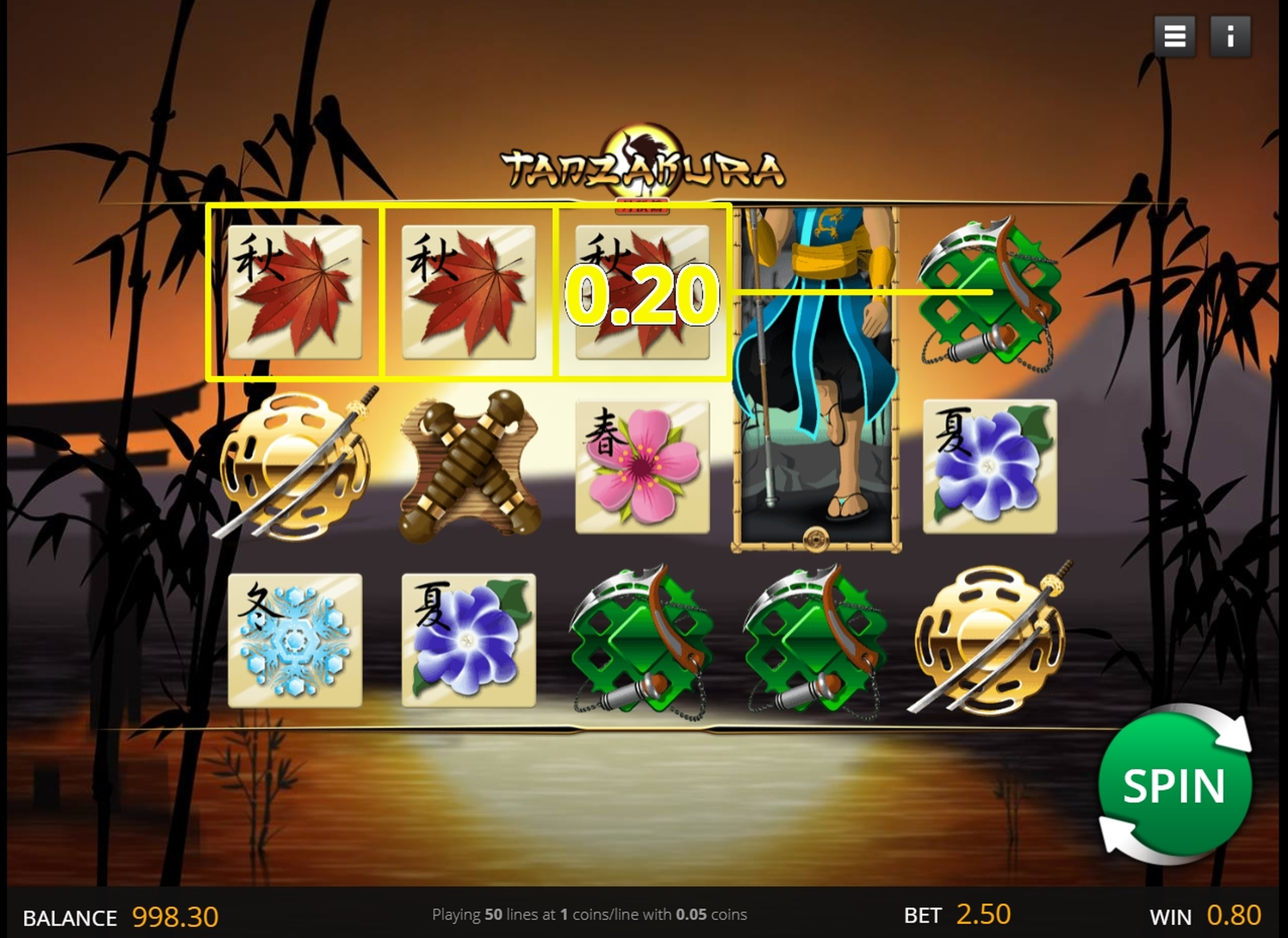 Win Money in Tanzakura Free Slot Game by saucify