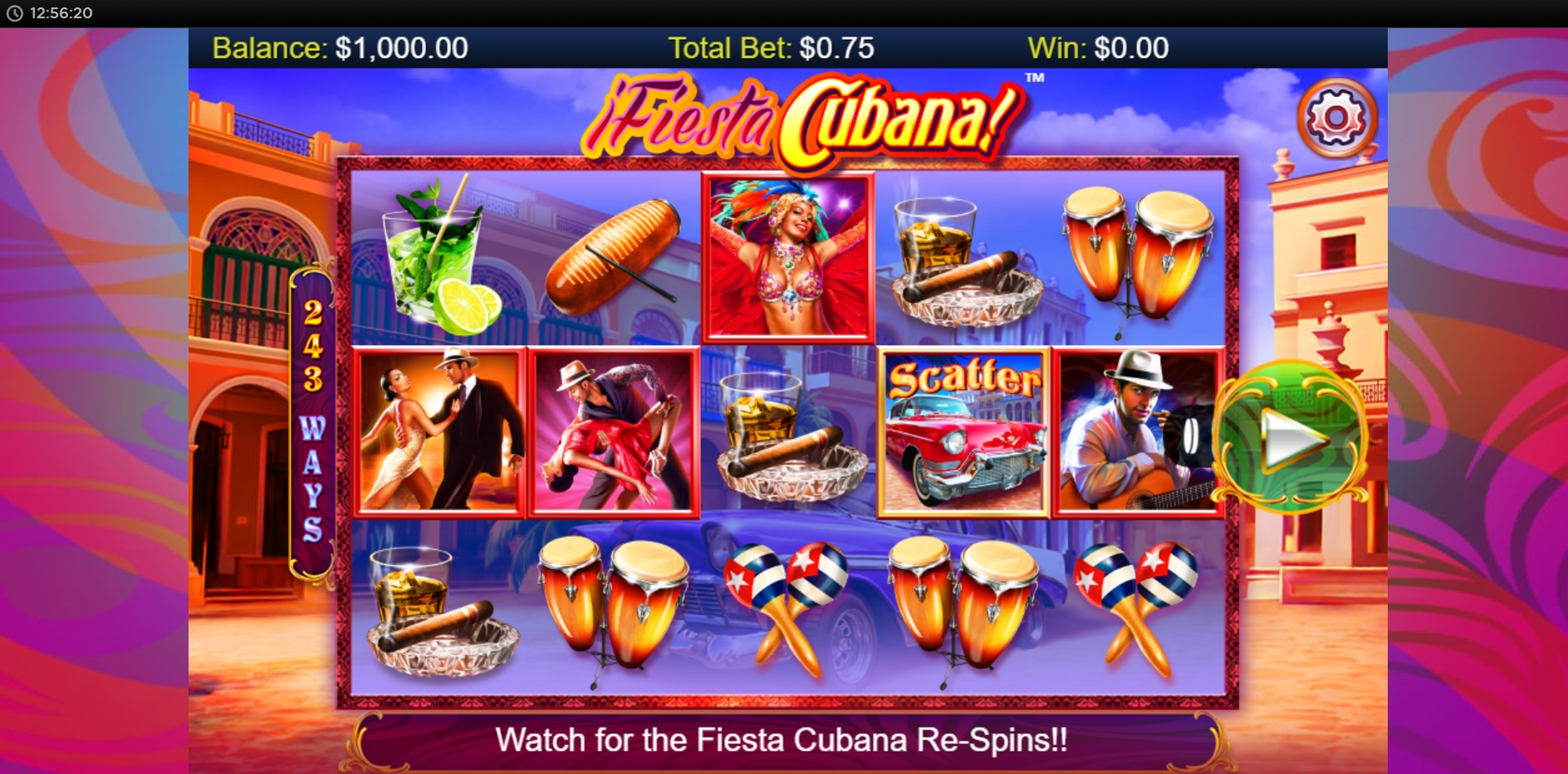 Reels in Fiesta Cubana Slot Game by Side City