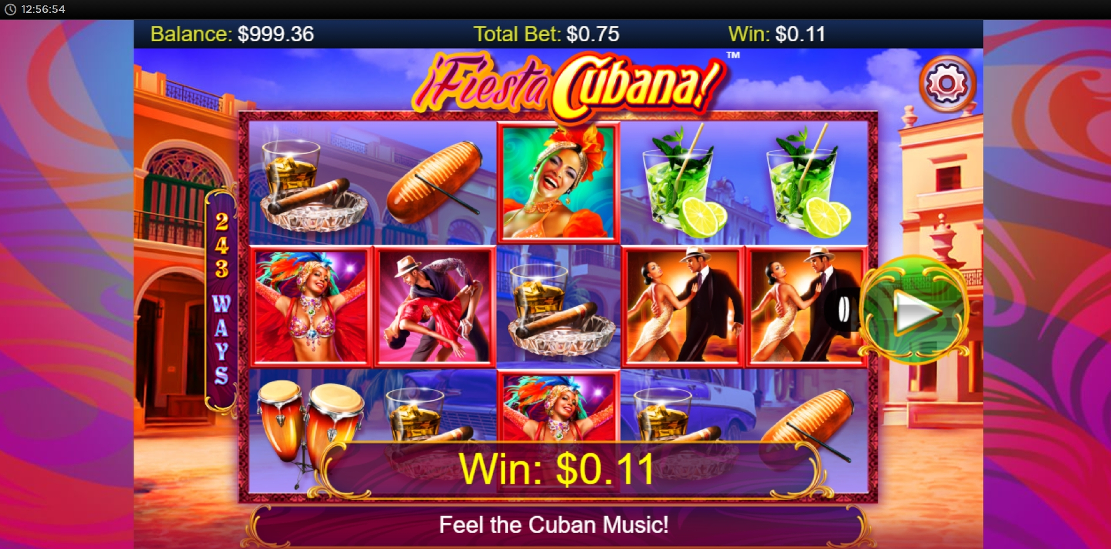 Win Money in Fiesta Cubana Free Slot Game by Side City