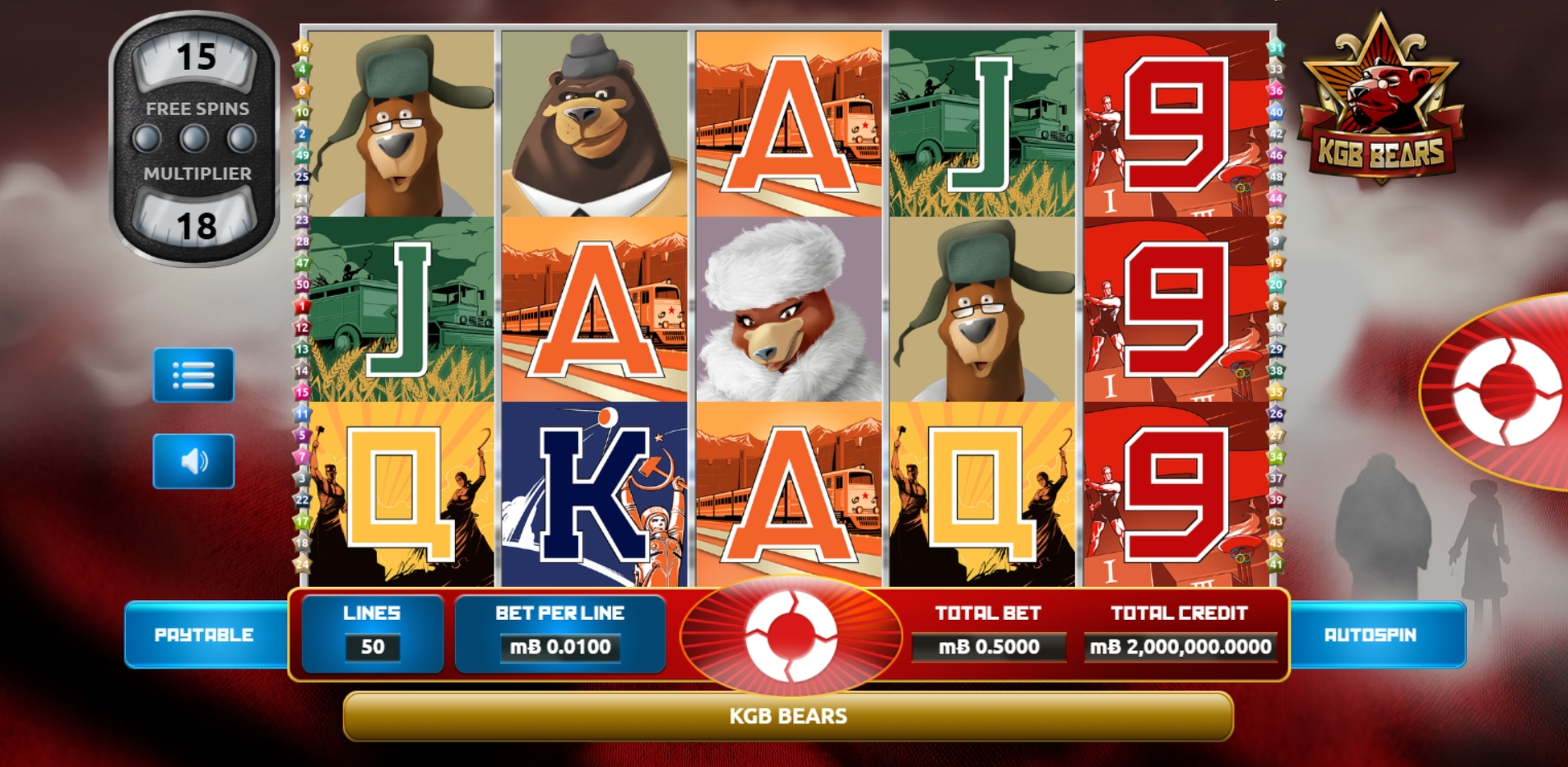 Reels in KGB Bears Slot Game by The Games Company