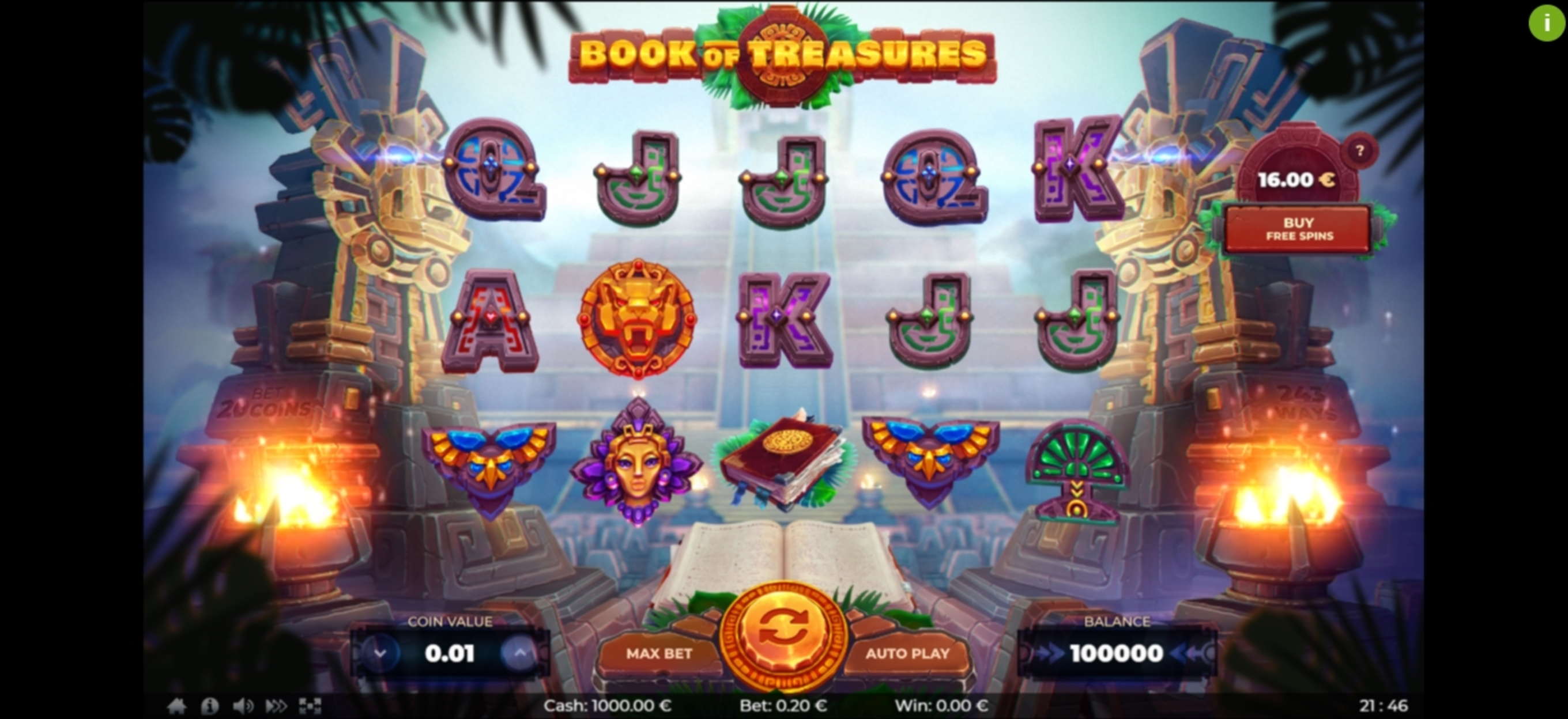 Reels in Book of Treasures	 Slot Game by Thunderspin