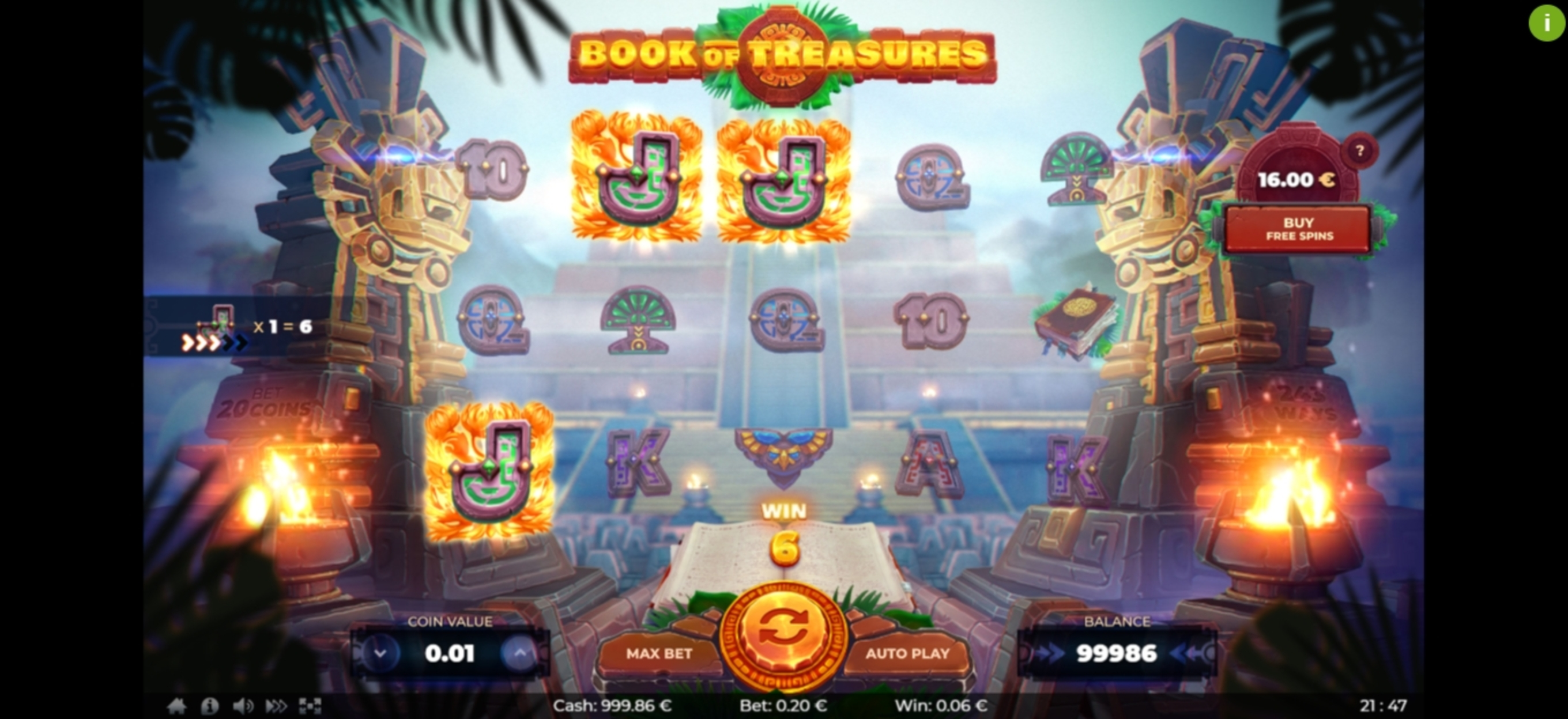 Win Money in Book of Treasures	 Free Slot Game by Thunderspin