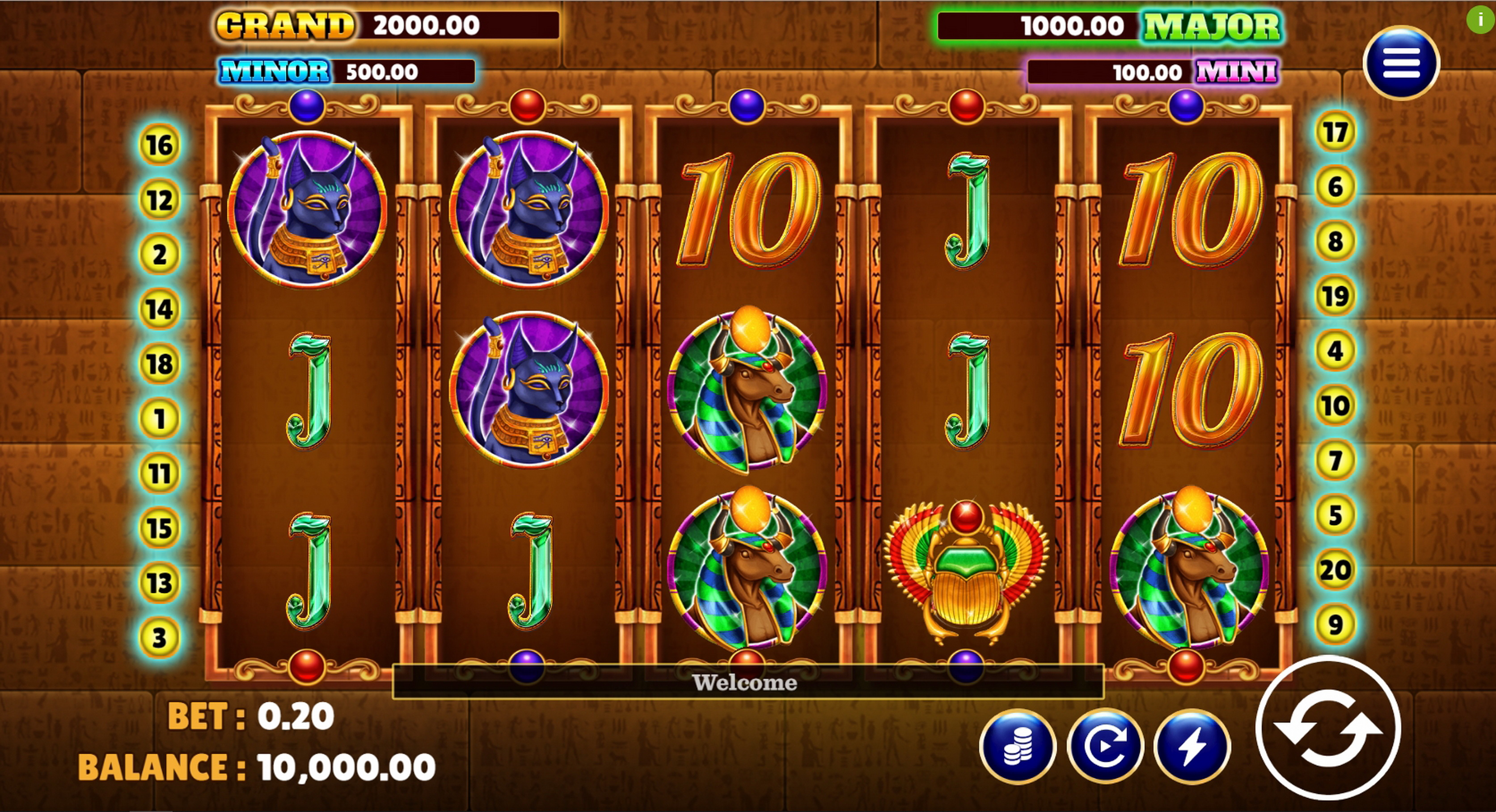 Reels in Legend of Pharaoh Slot Game by Vela Gaming