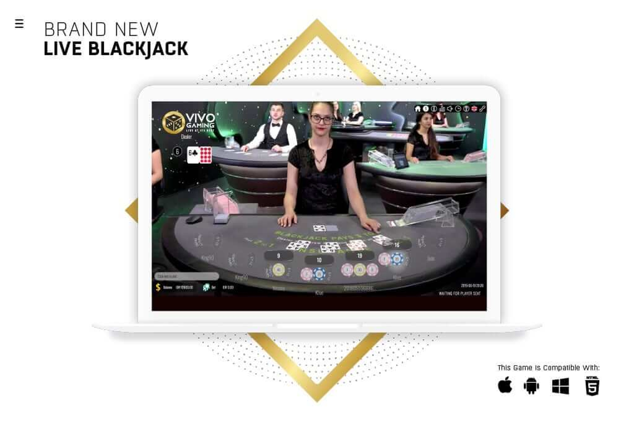 The Blackjack Live Casino (Vivogaming) Online Slot Demo Game by Vivo Gaming